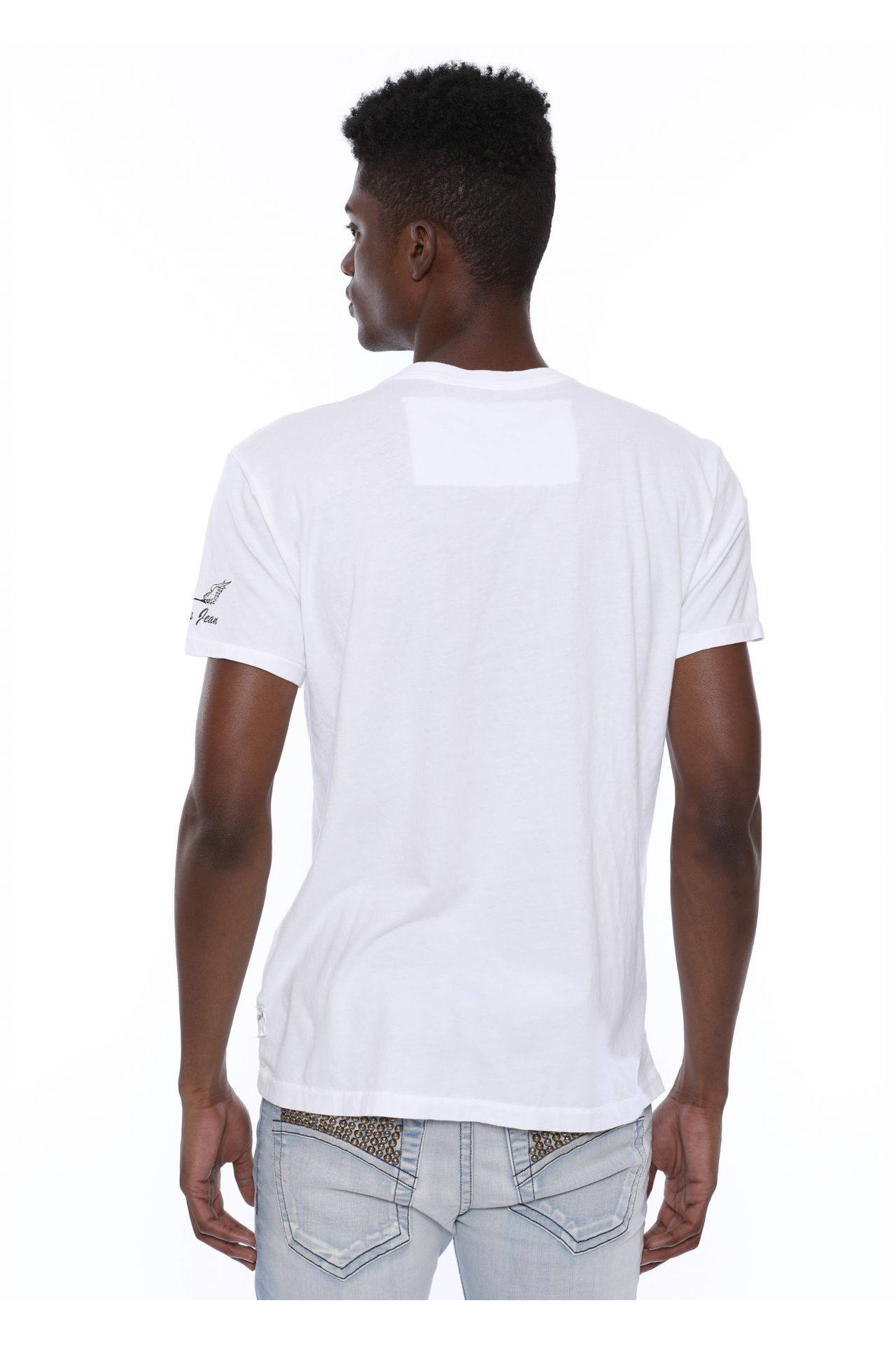 TRADITIONAL EAGLE TEE IN WHITE