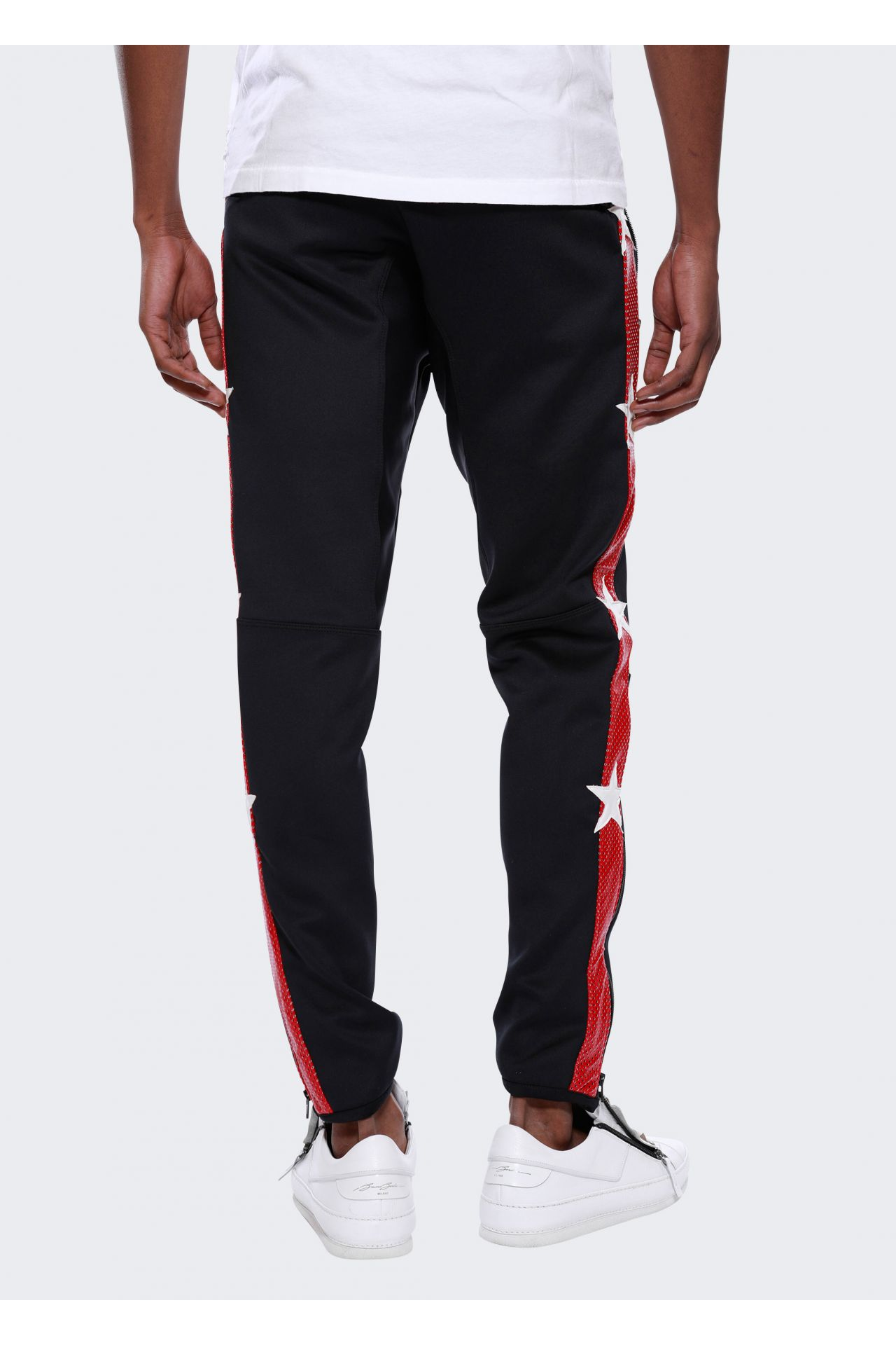 JOGGER WITH PATCHES IN BLACK