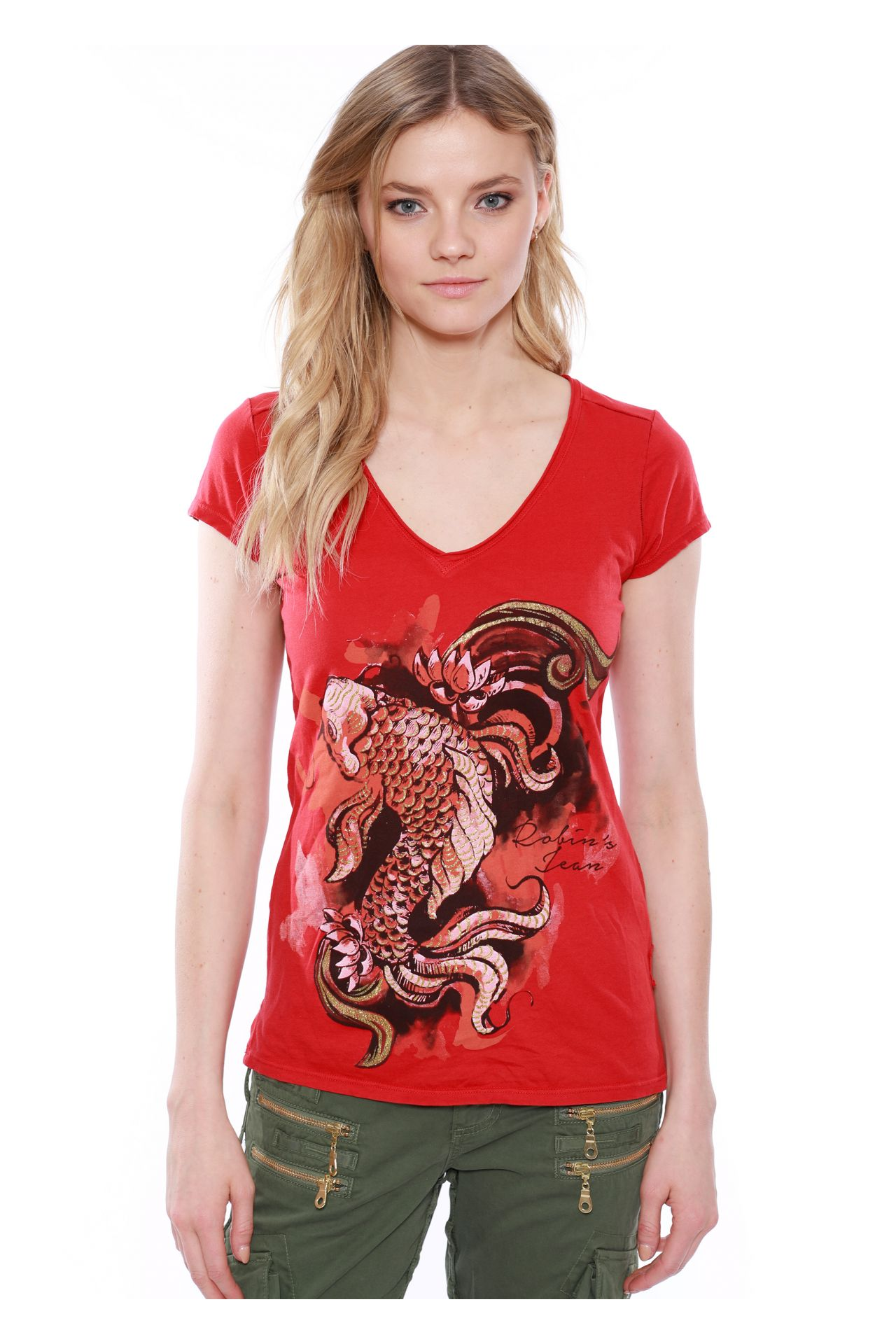 KOI TEE IN RED
