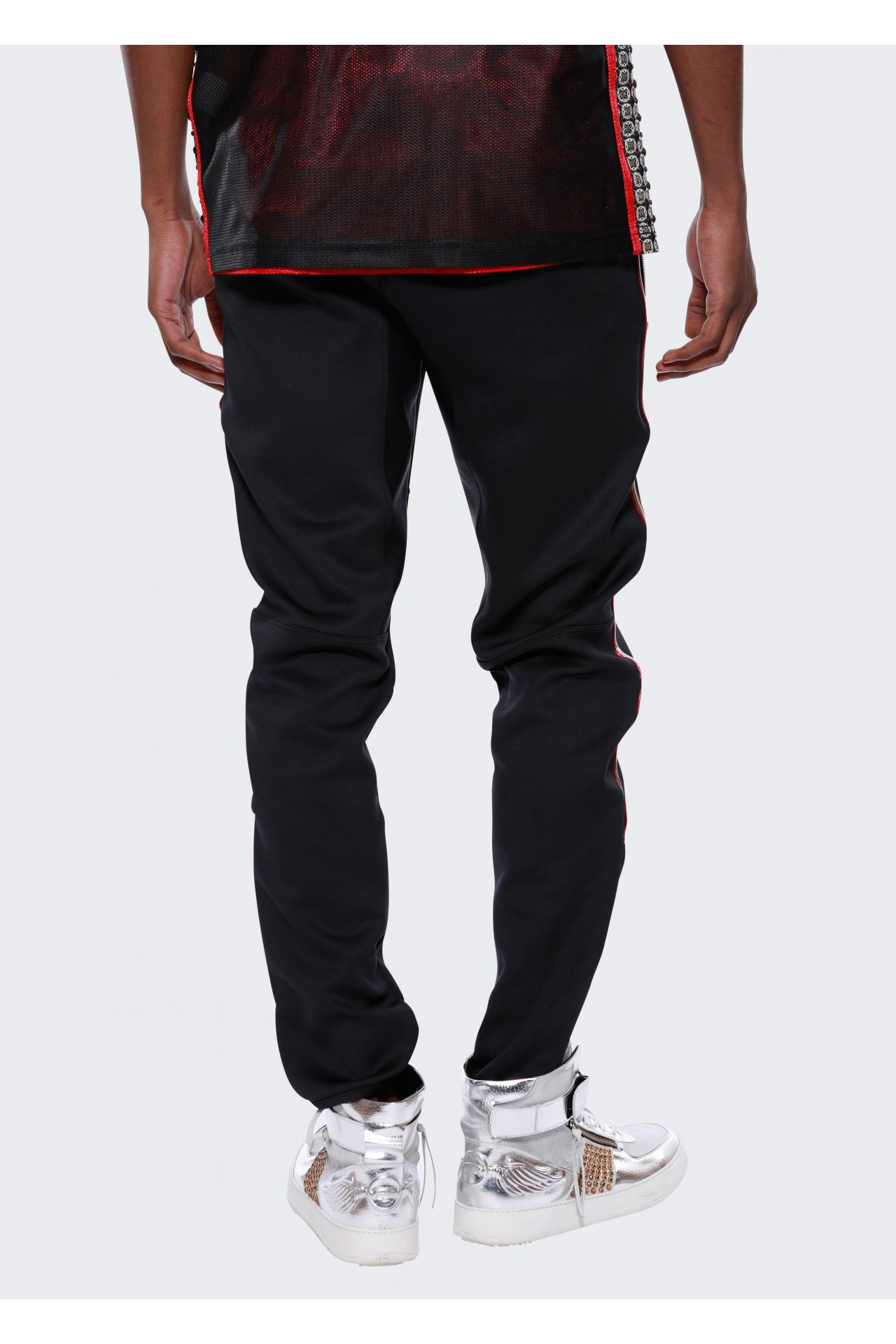 JOGGER PIPING IN BLACK