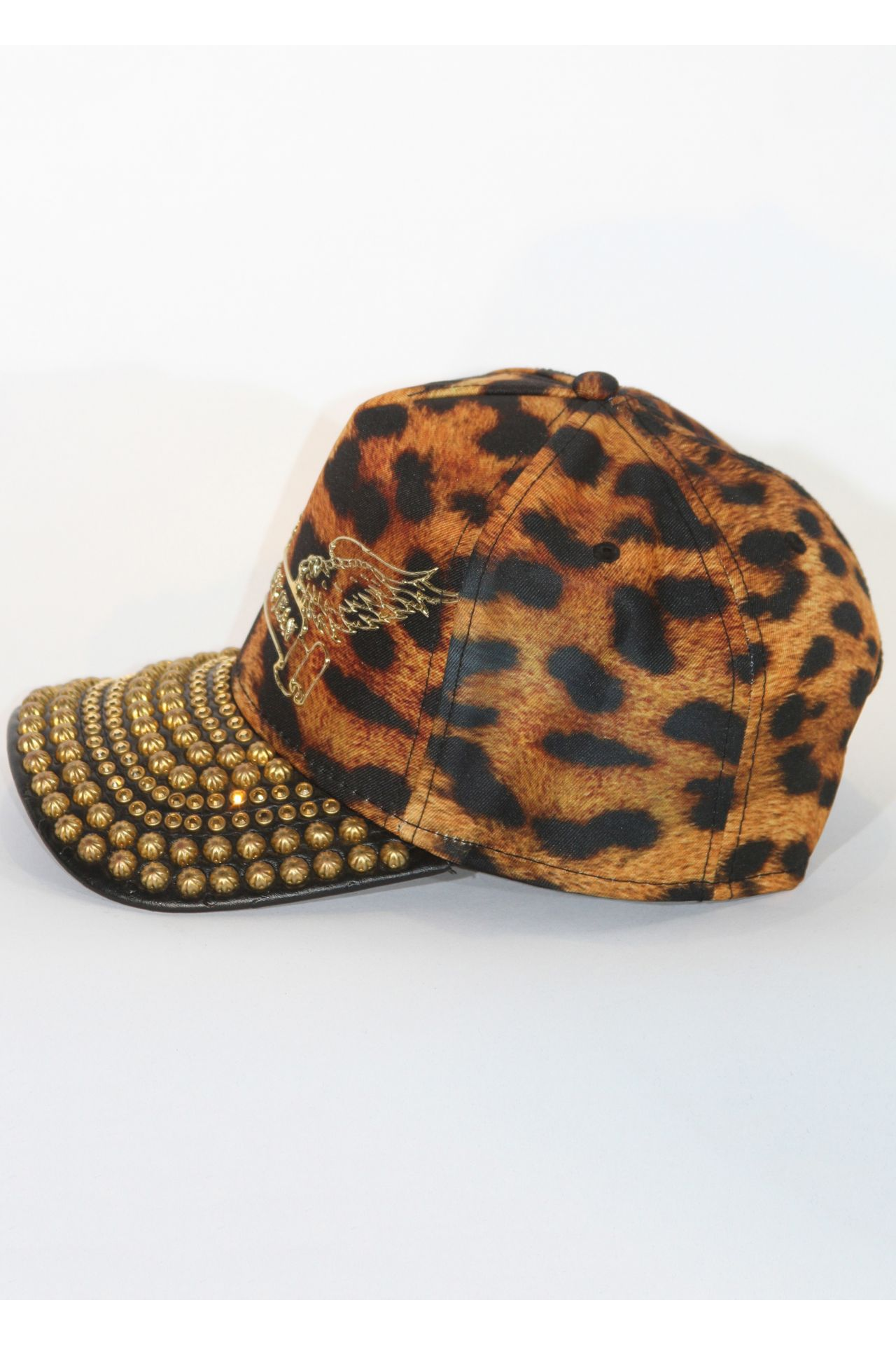 CAP IN LEOPARD WITH GOLD SW & PARACHUTES