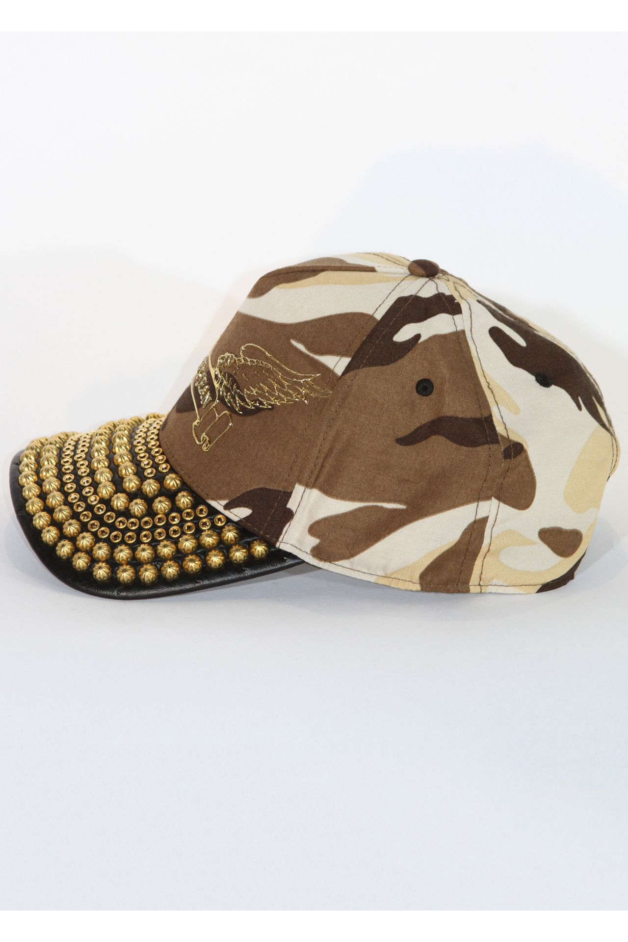 CAP IN KHAKI CAMOUFLAGE WITH GOLD SW AND PARACHUTES