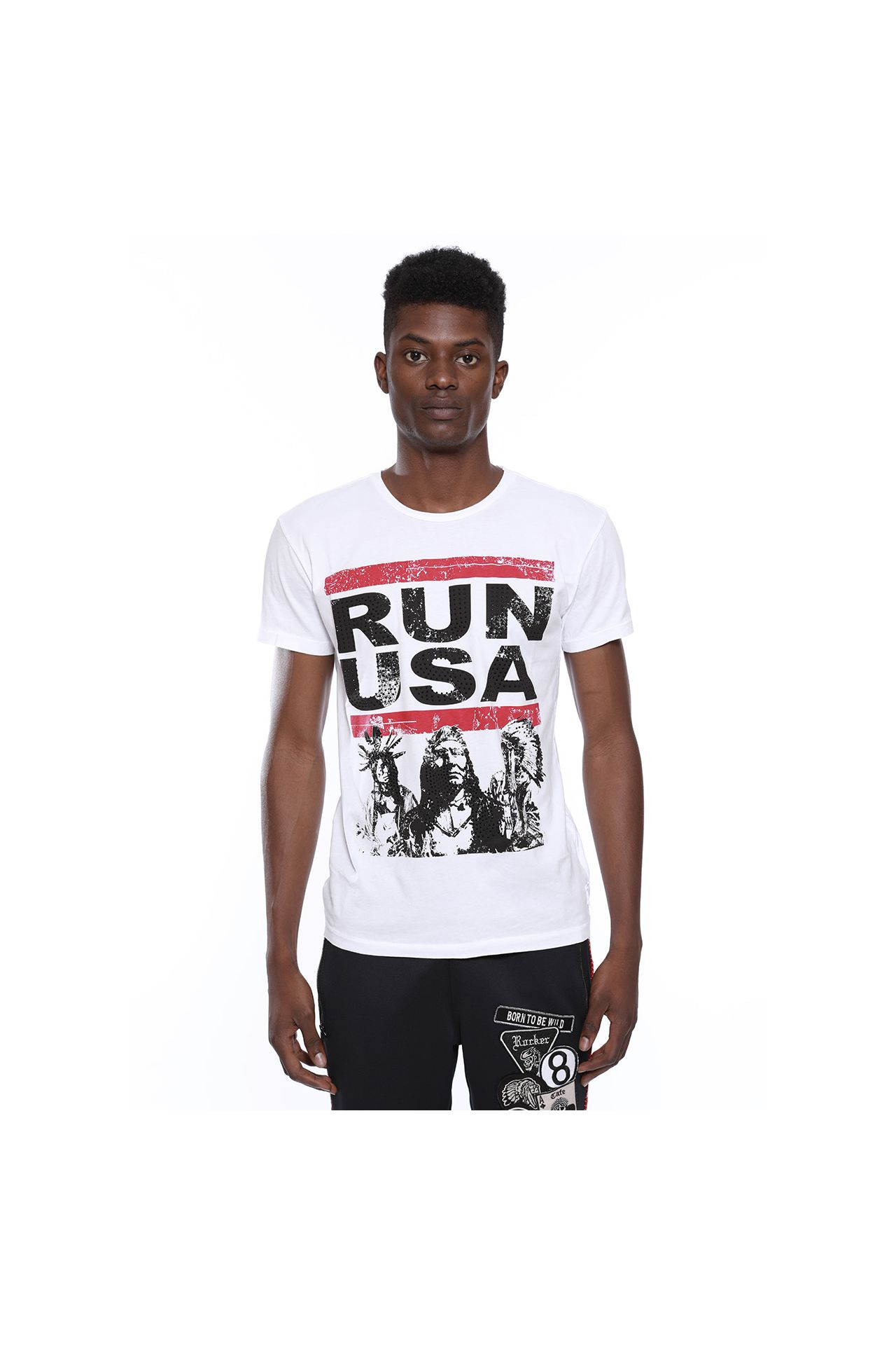 RUN USA IN WHITE