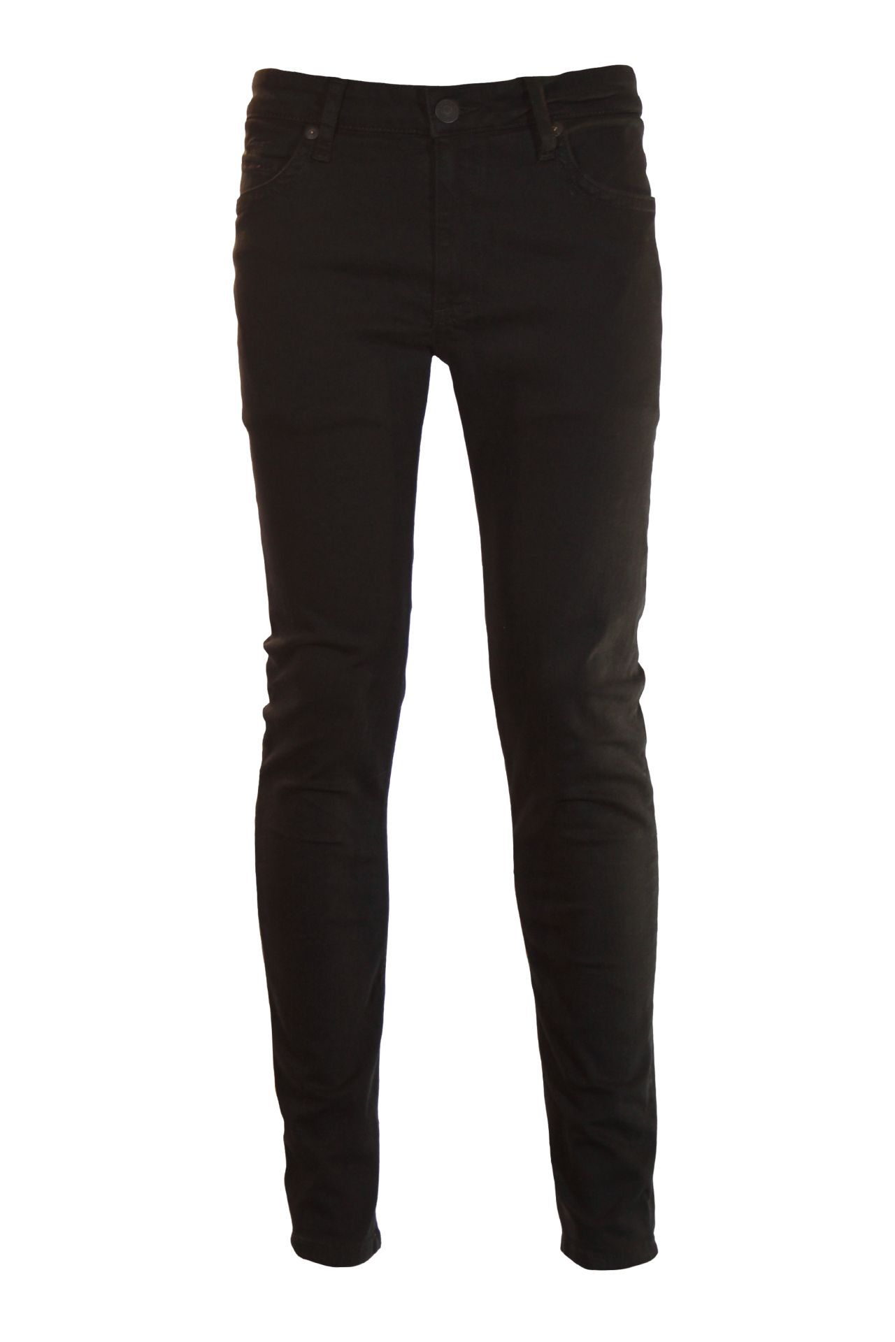SKINNY JEANS IN PURE BLACK WITH JET BLACK SW