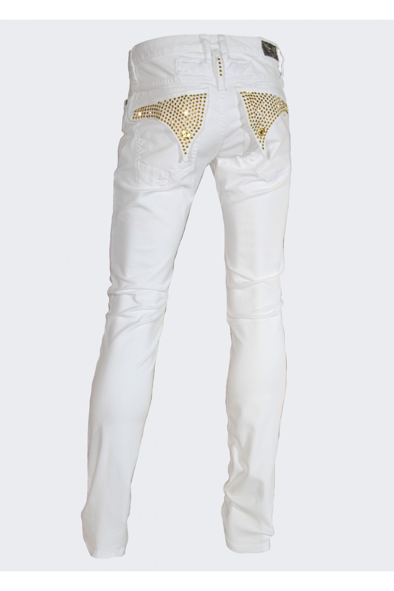 SKINNY IN WHITE WITH GOLD SW