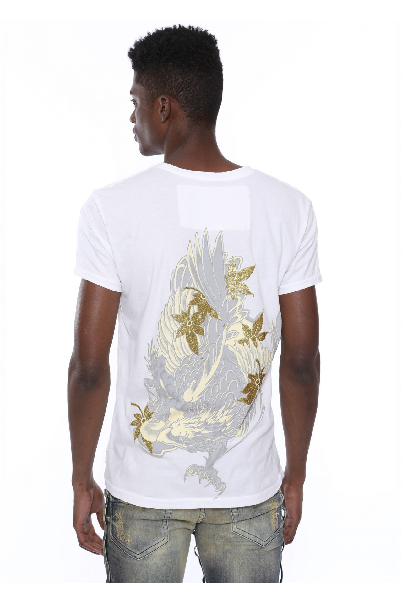 EAGLE TEE IN WHITE