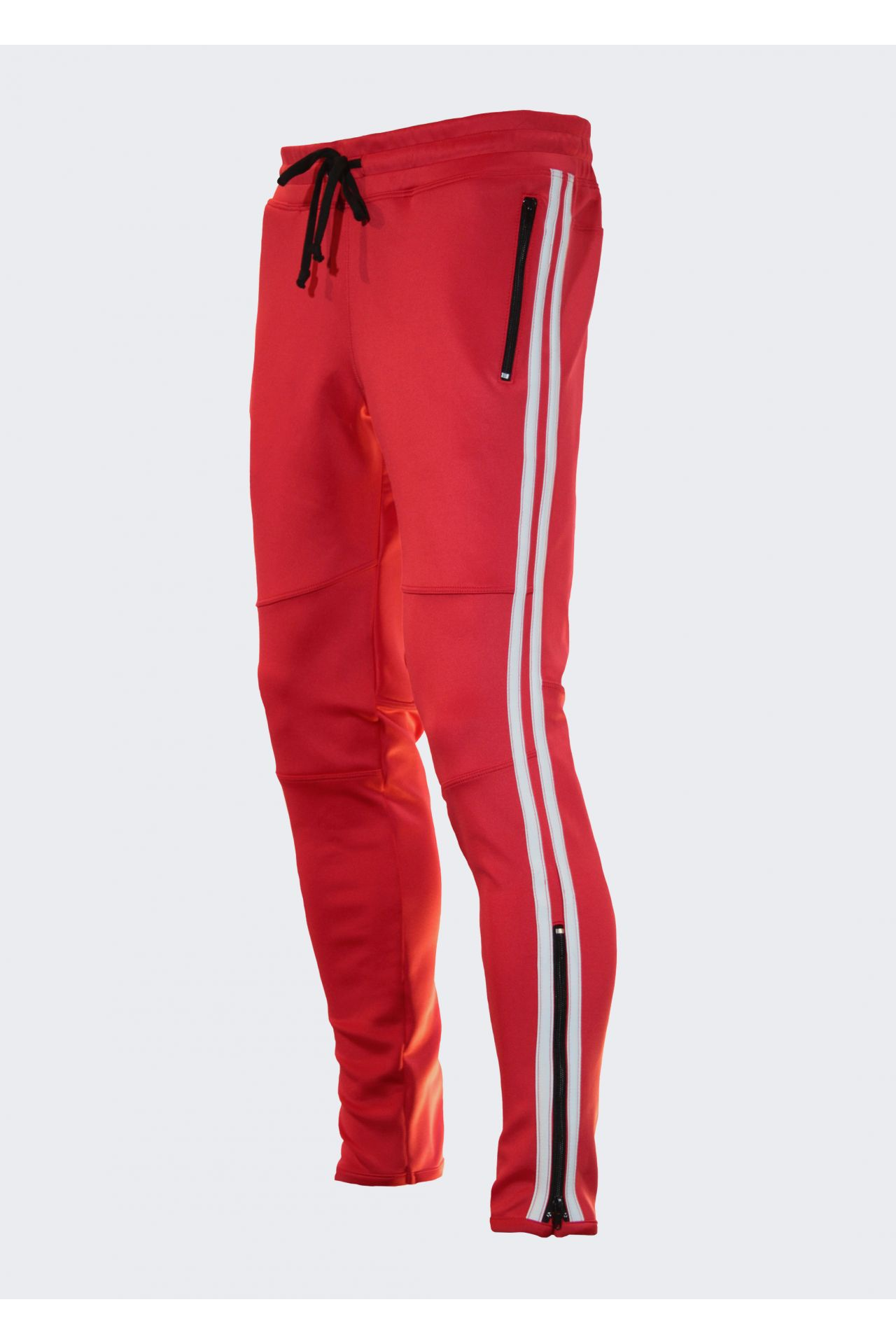 JOGGER IN RED WITH WHITE STRIPE