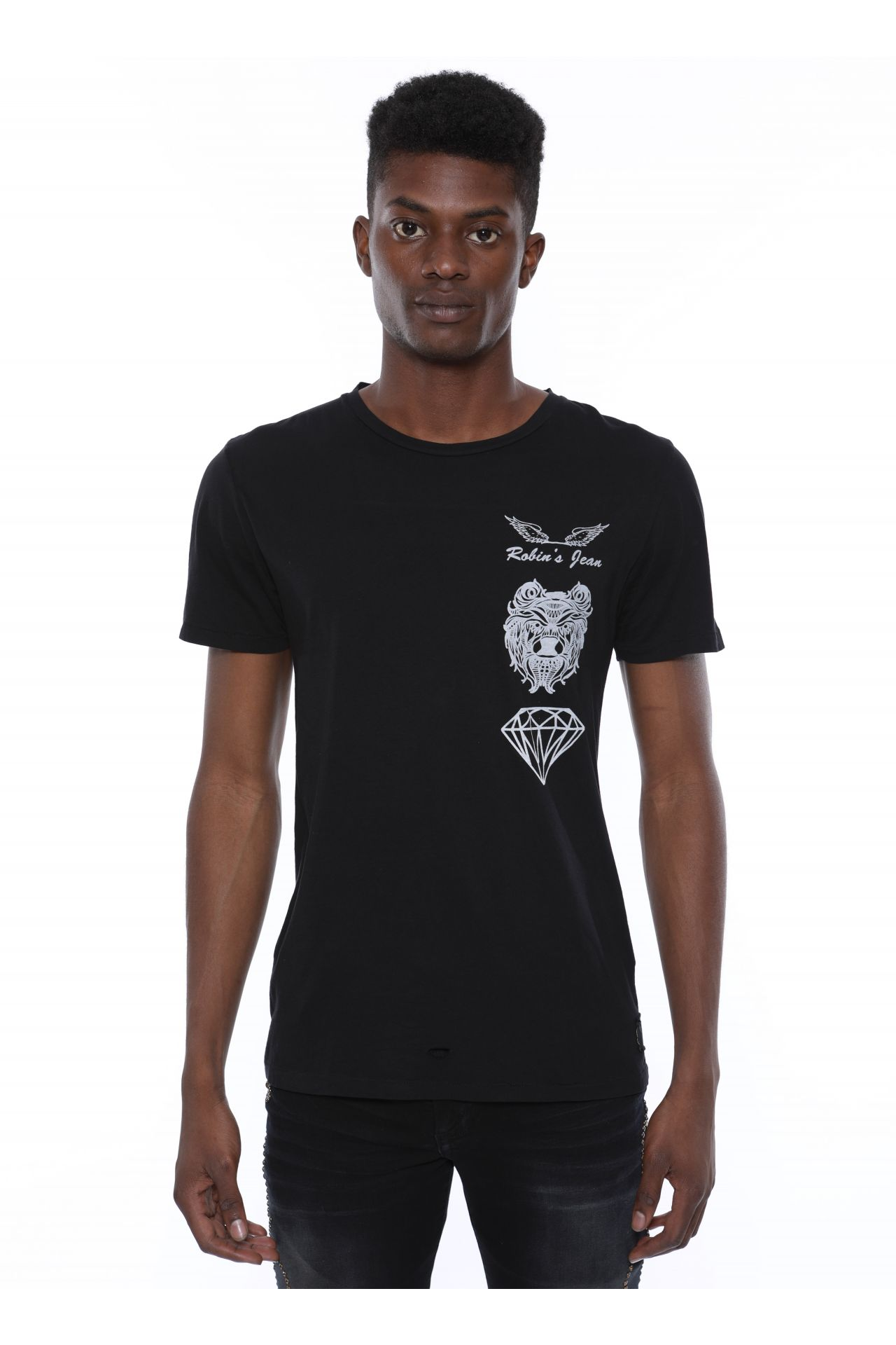 BLACK BEAR TEE IN BLACK