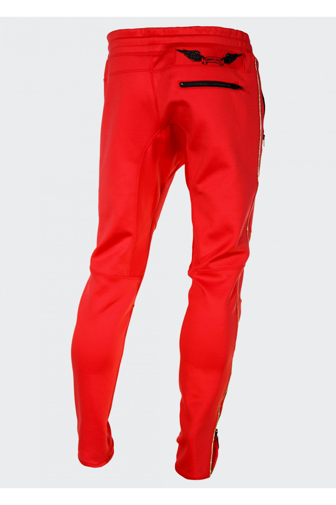 JOGGER IN RED WITH TIGER PATCH