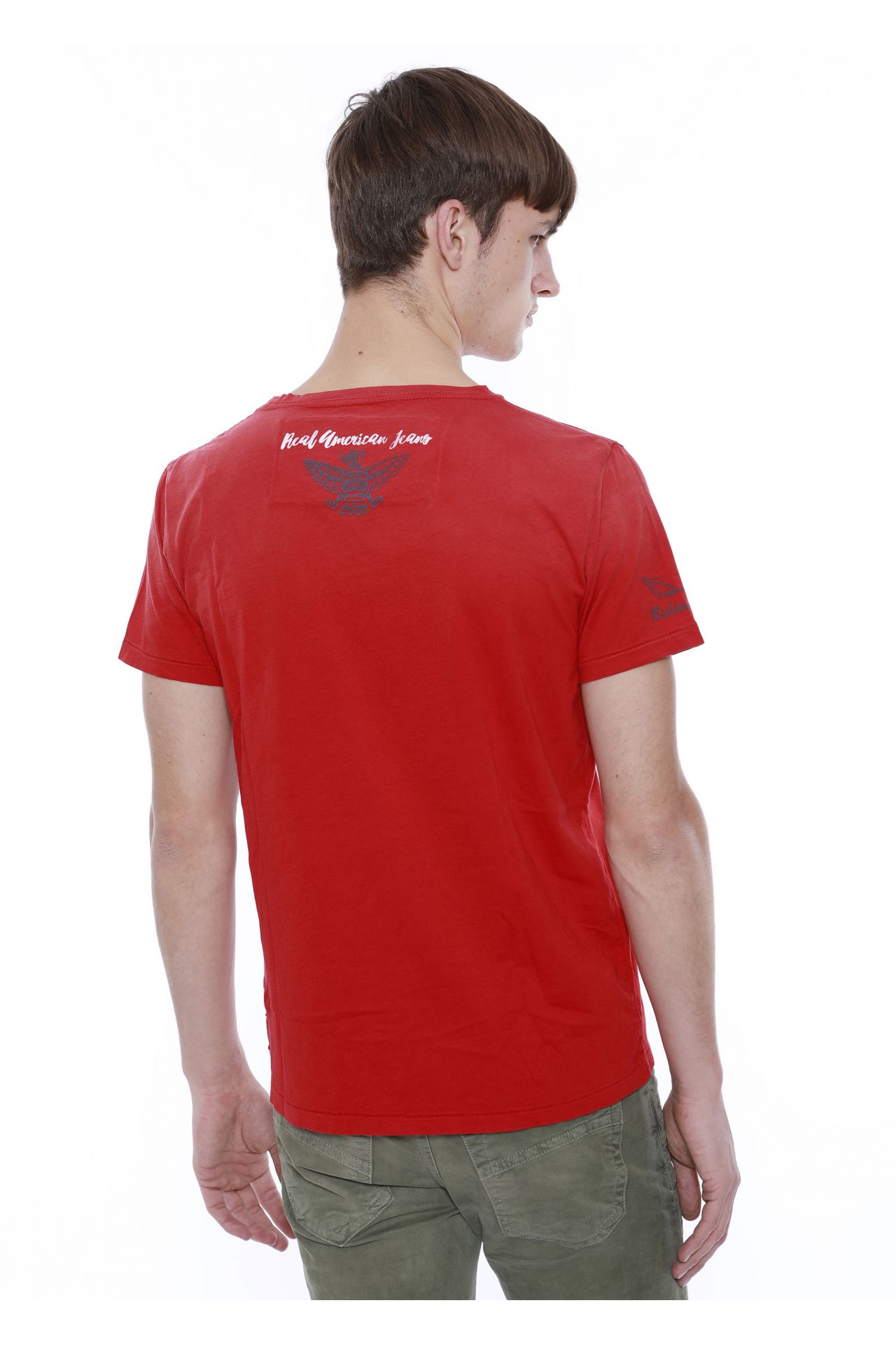TEE WITH RED SW IN F_UP RED
