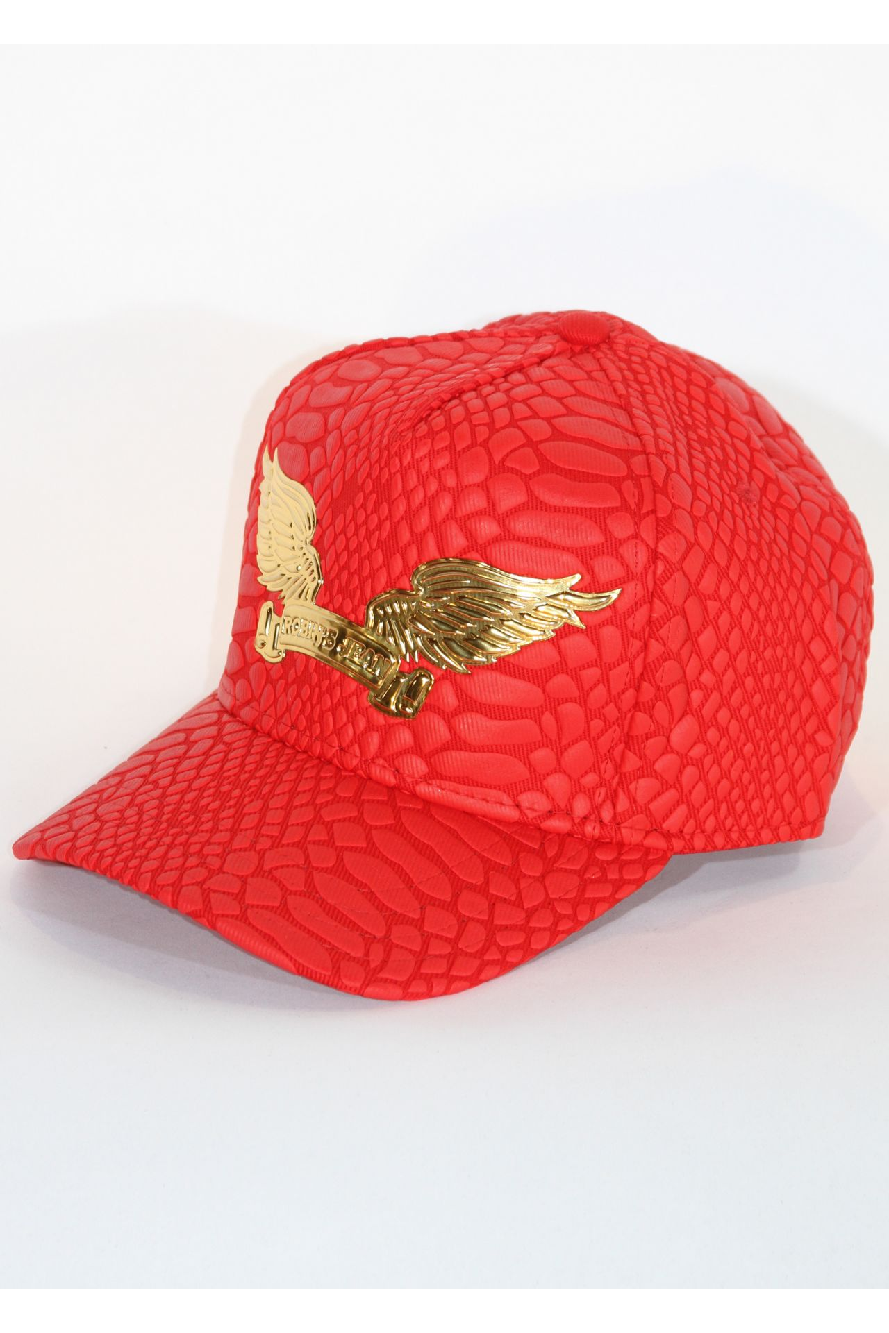 CRACKLE HAT IN RED