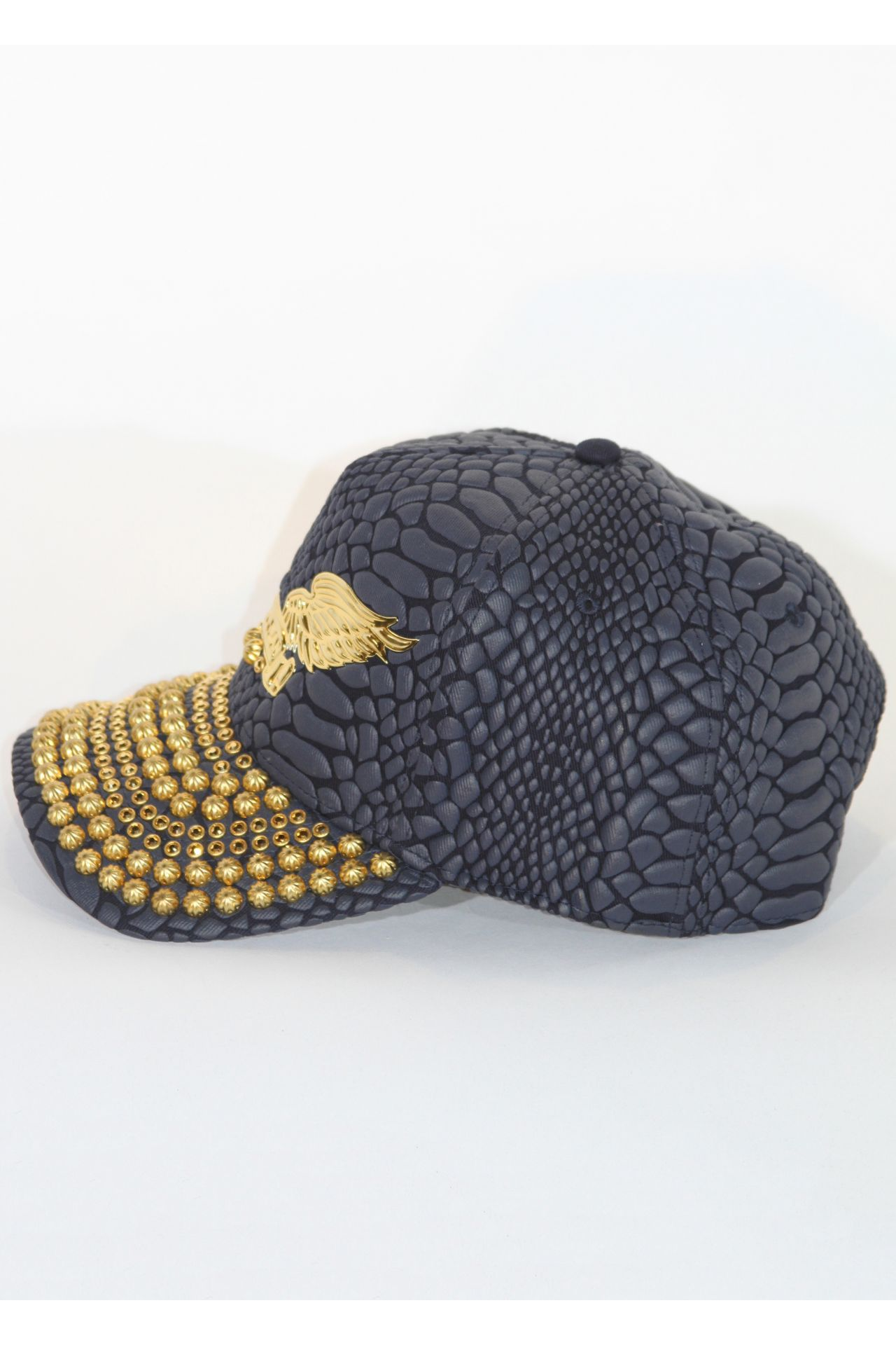 CRACKLE HAT IN NAVY WITH GOLD SW AND PARACHUTES