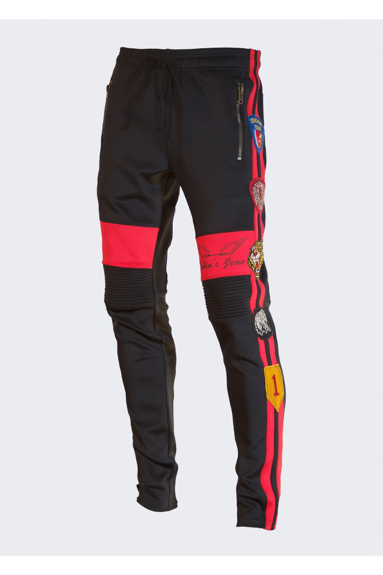 ROBIN'S JOGGER IN BLACK WITH PATCHES