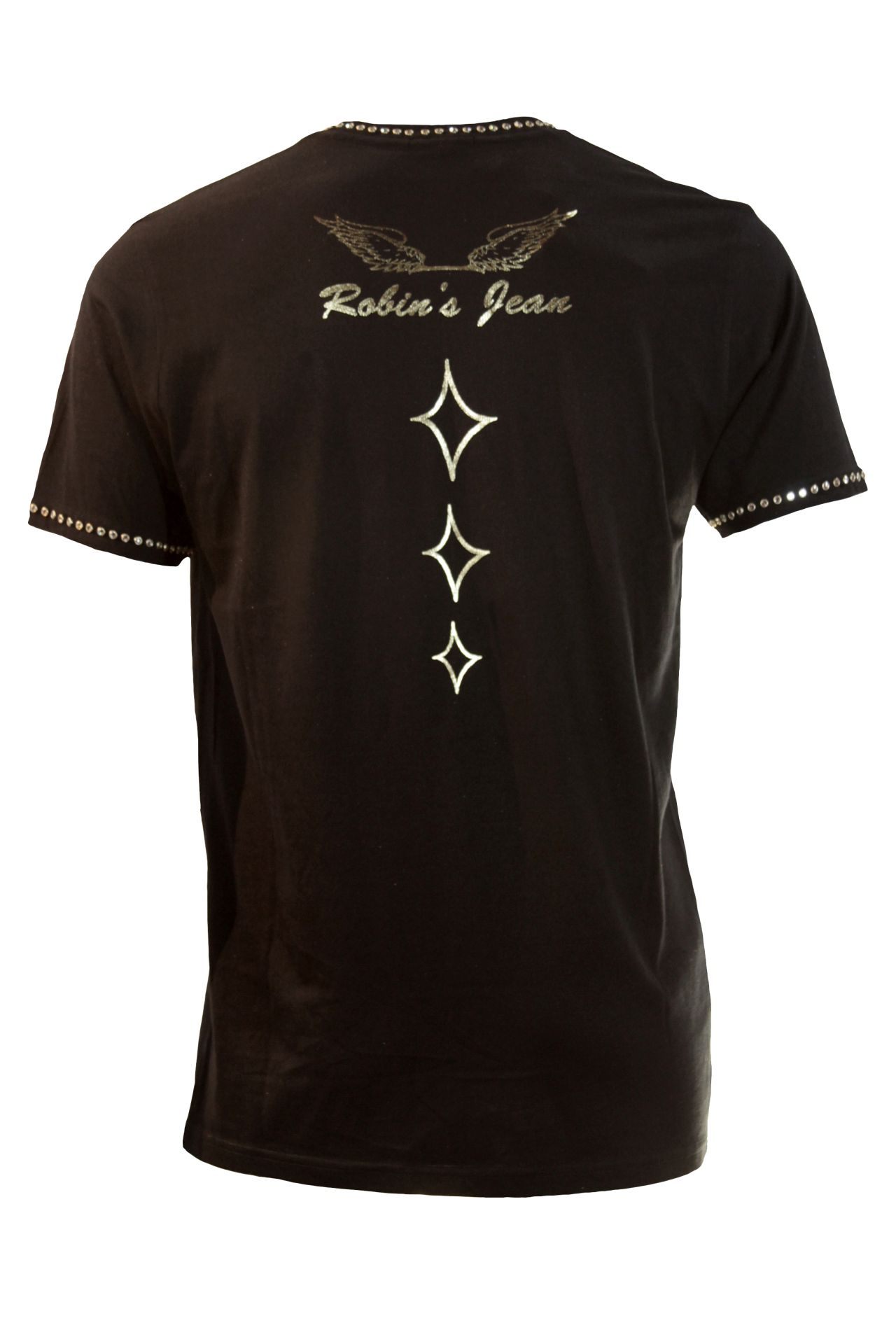 TOP HAT TEE IN BLACK WITH CLEAR SW STUDS