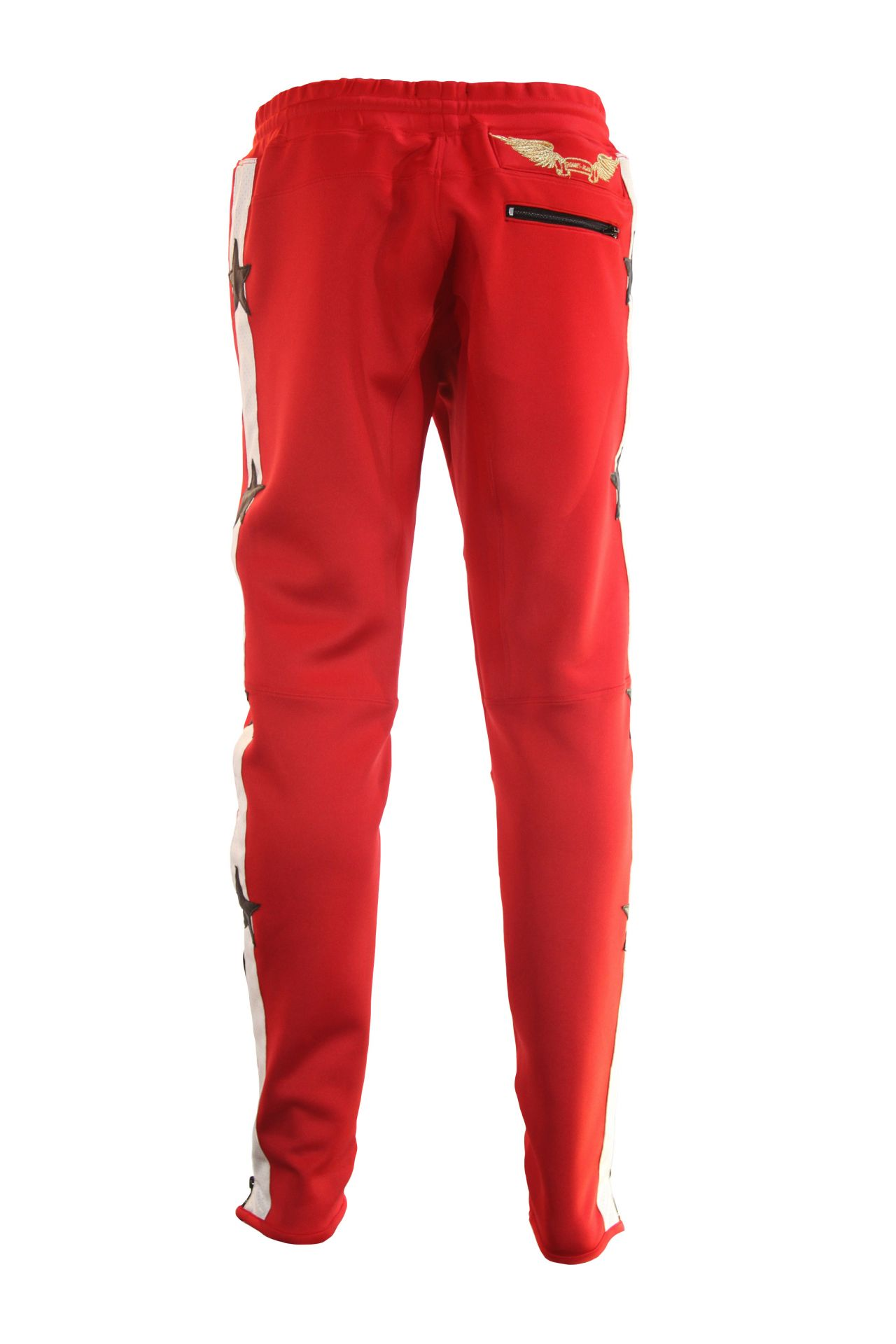 RED JOGGER WITH STARS STRIPES AND PATCHWORK