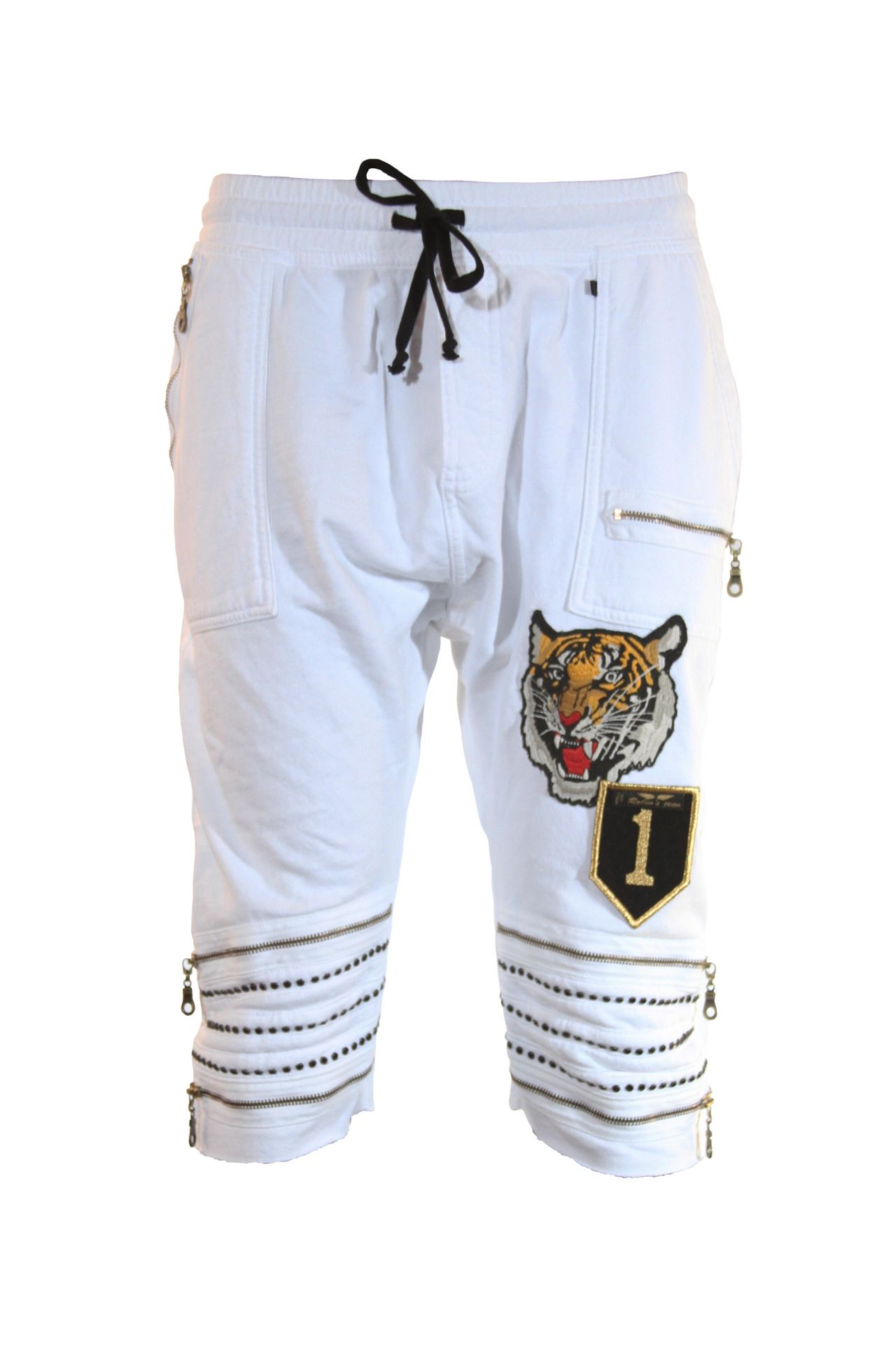 TIGER PATCH SHORT IN WHITE