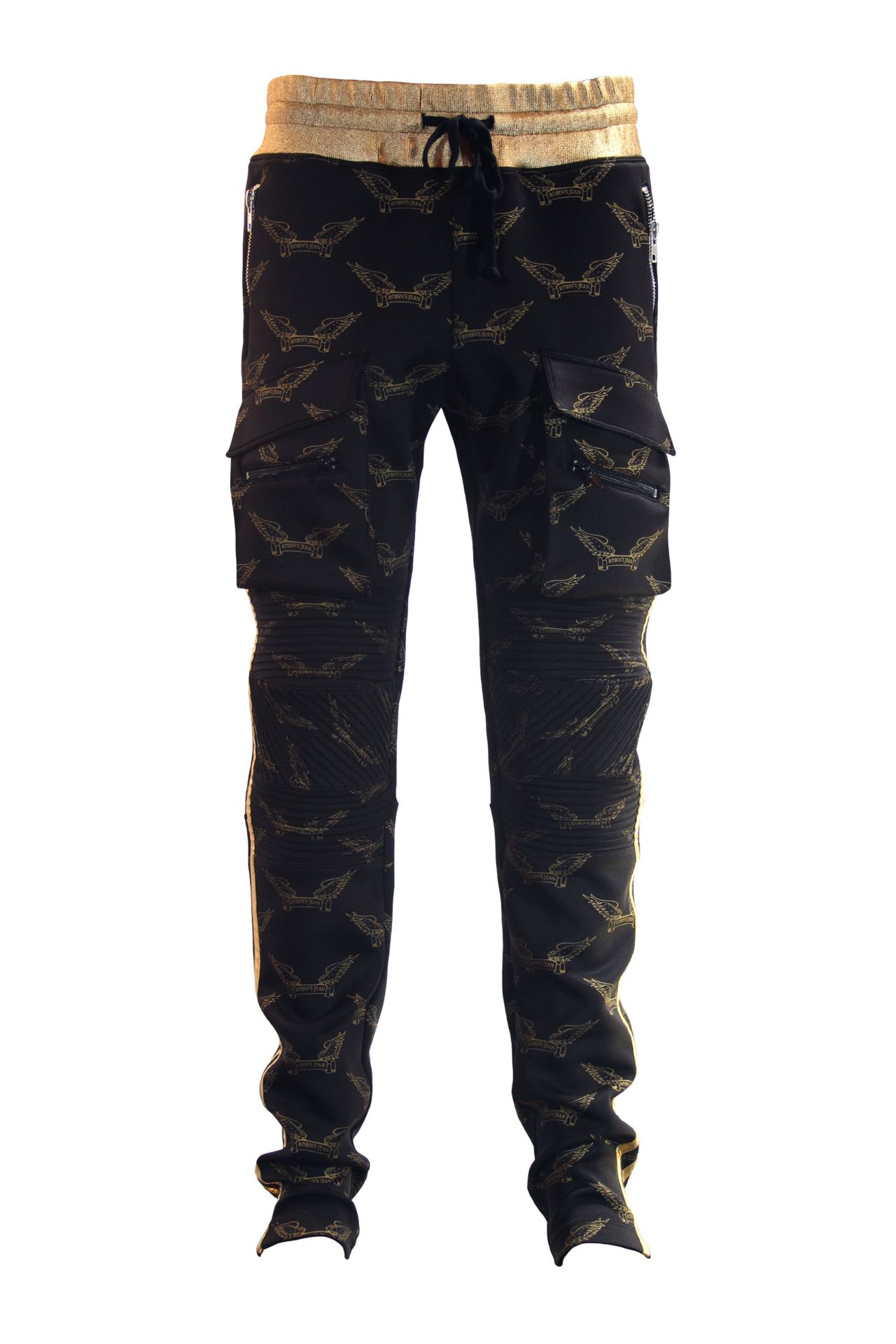 ROBIN'S MONOGRAM JOGGER IN BLACK AND GOLD