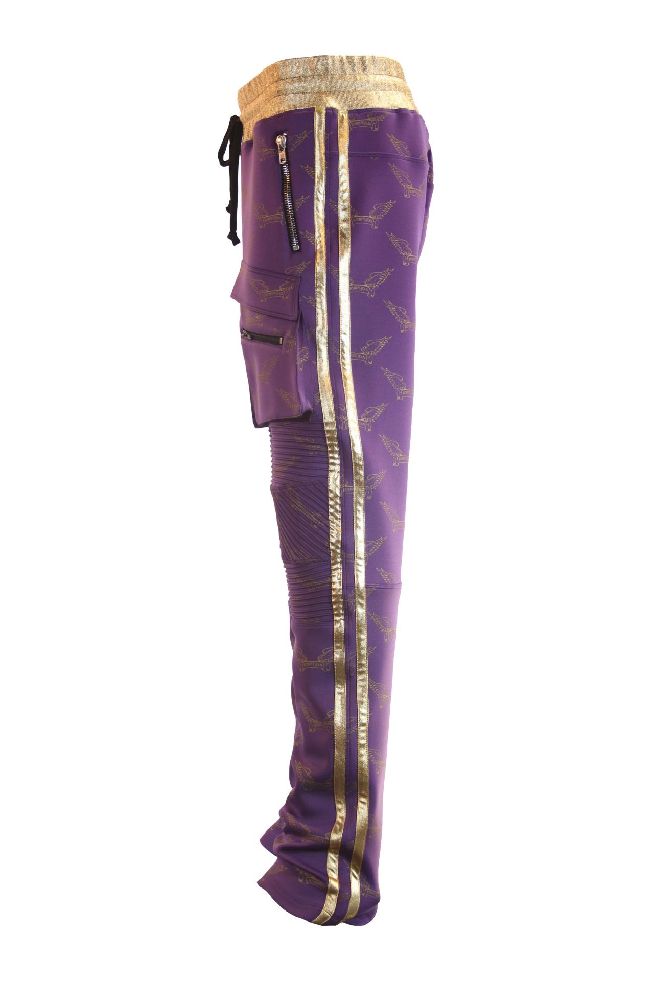 ROBIN'S MONOGRAM JOGGER IN PURPLE AND GOLD