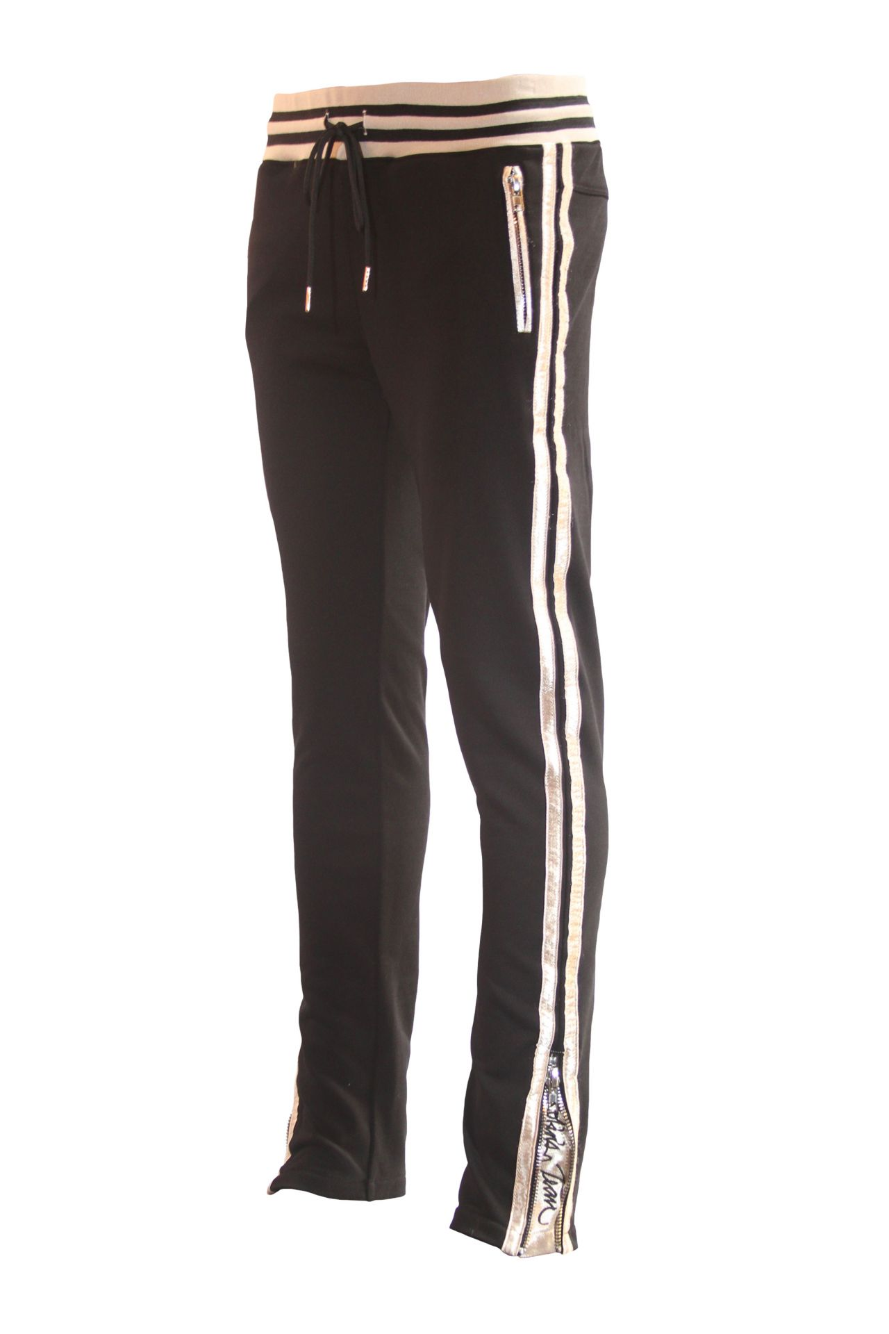 CLASSIC JOGGER IN BLACK WITH GOLD STRIPES