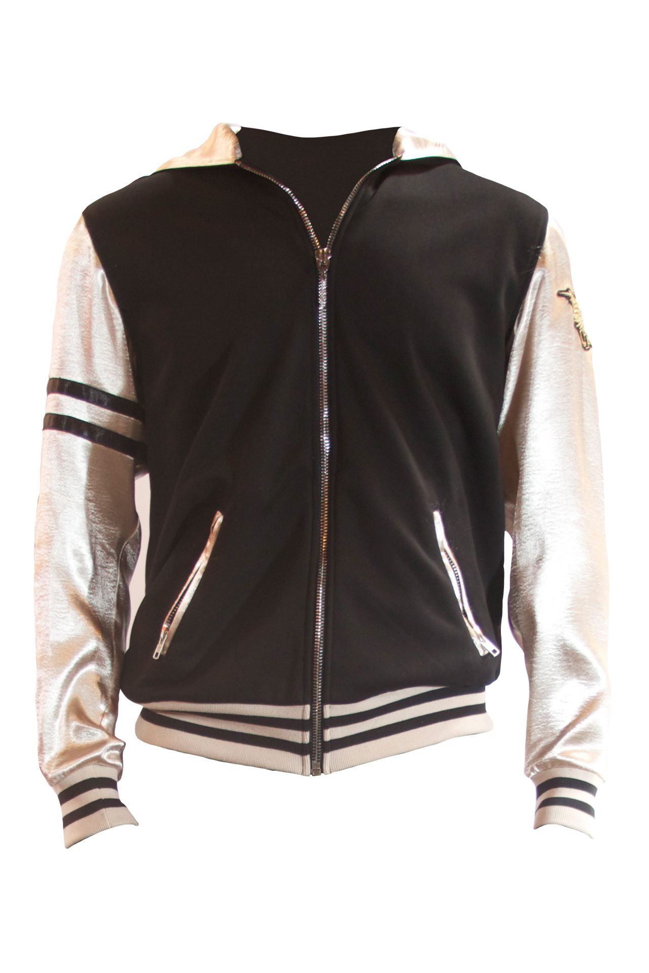 CLASSIC TRACK JACKET IN BLACK AND GOLD WITH CHIEF