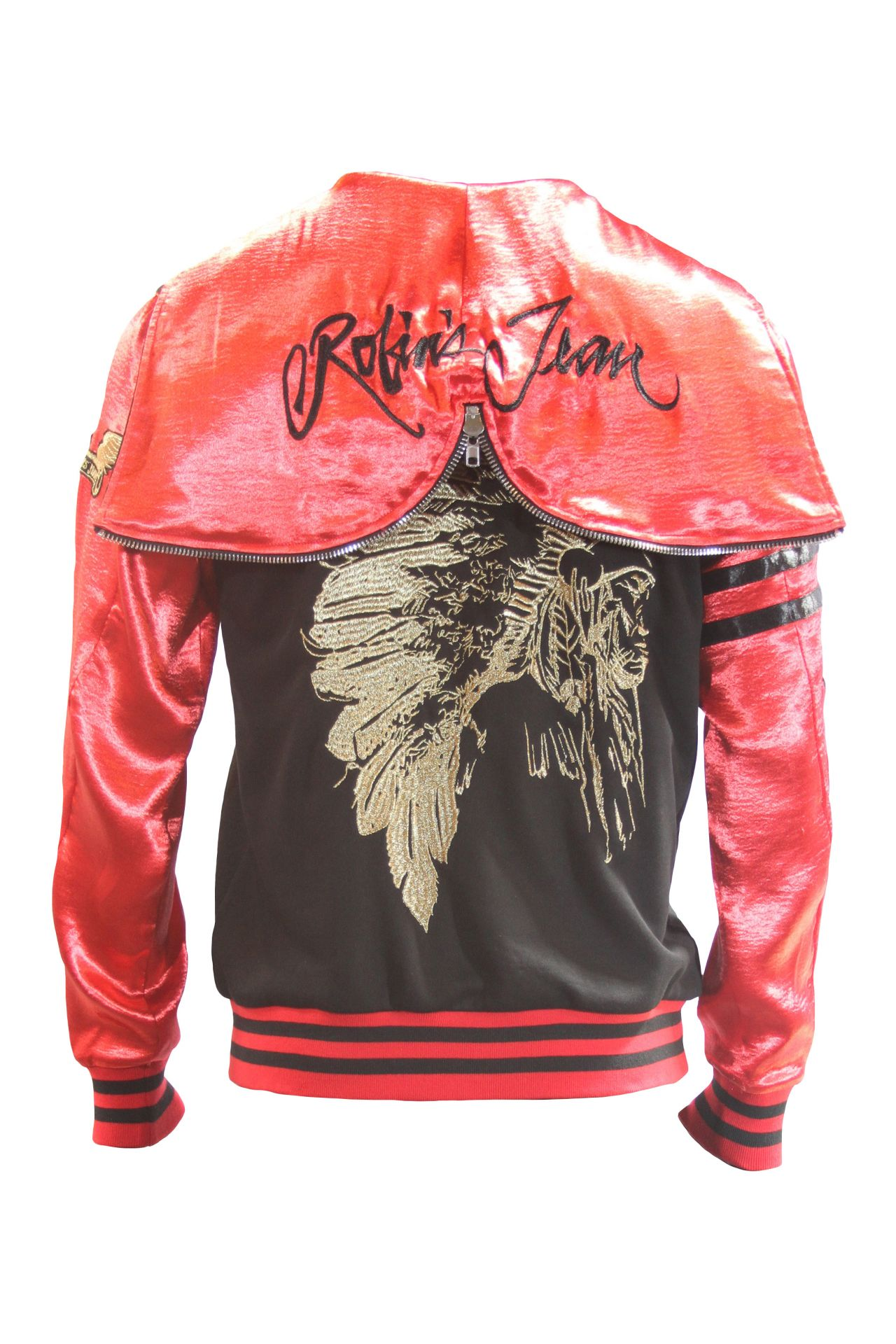 CLASSIC TRACK JACKET IN BLACK AND RED WITH CHIEF