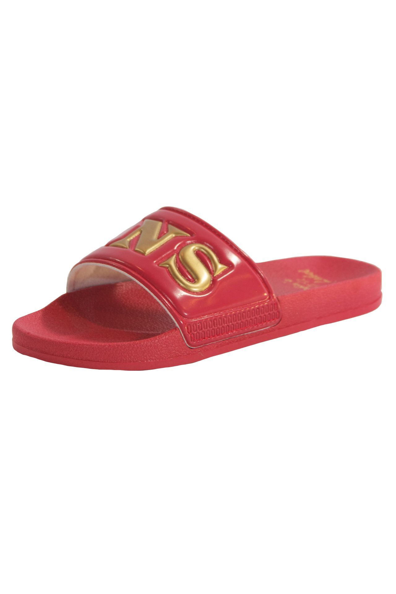 ROBIN SLIDES IN RED AND GOLD