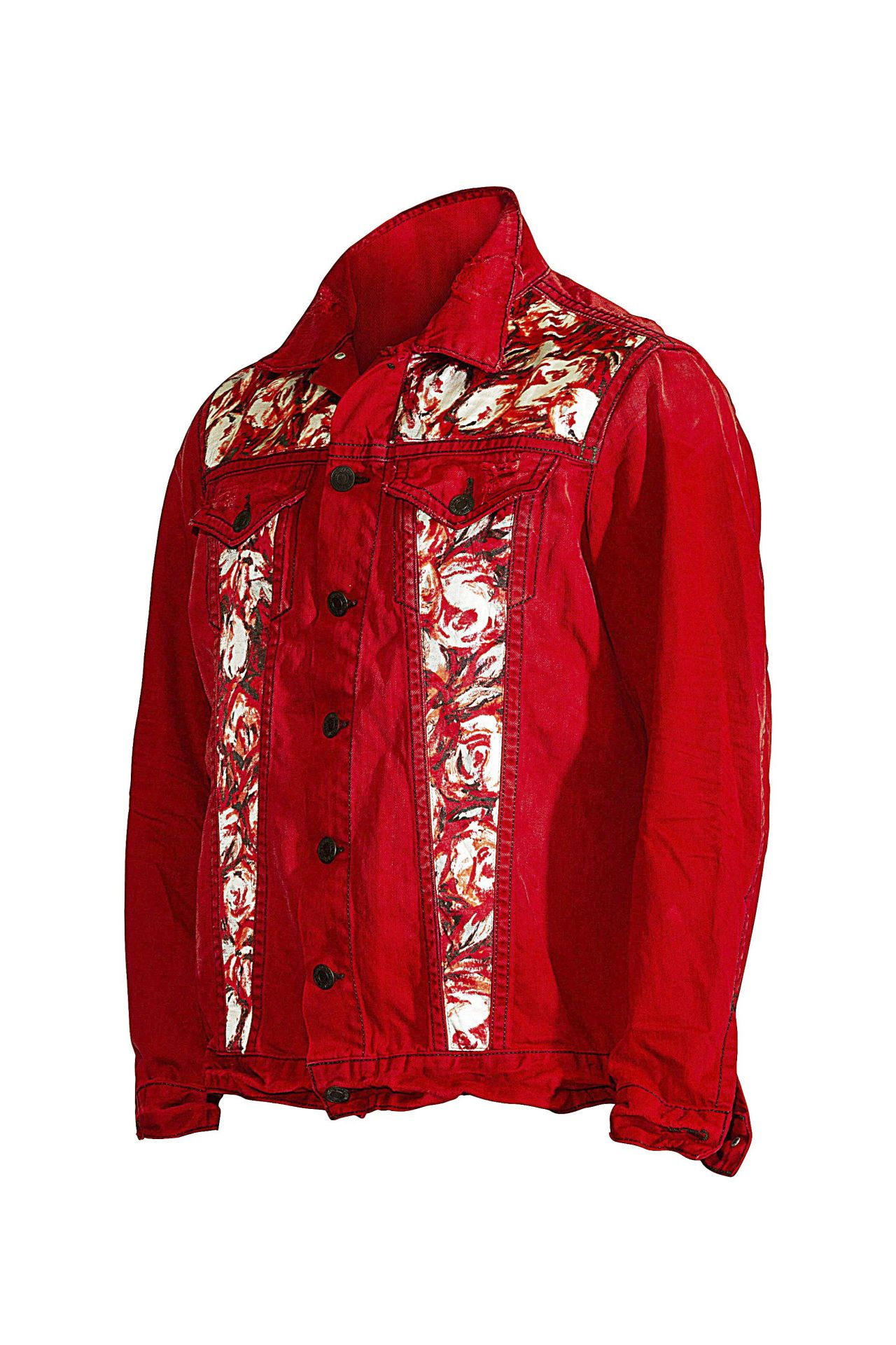 FLORAL ACCENT JACKET IN F_UP RED
