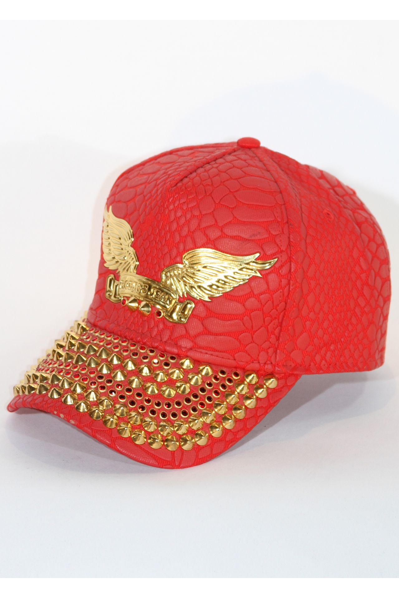 RED CAP WITH RED AND GOLD SW