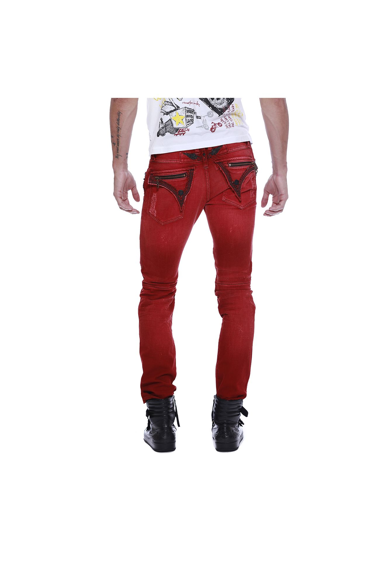 BIKER WITH RED SW, BLACK NH AND BLACK SPIKES