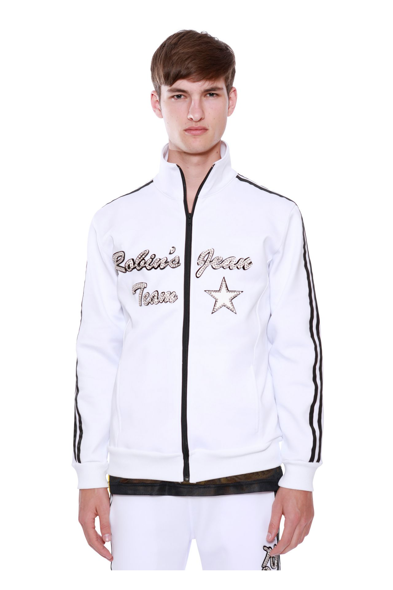 TEAM ROBIN'S JEAN TRACK JACKET IN WHITE