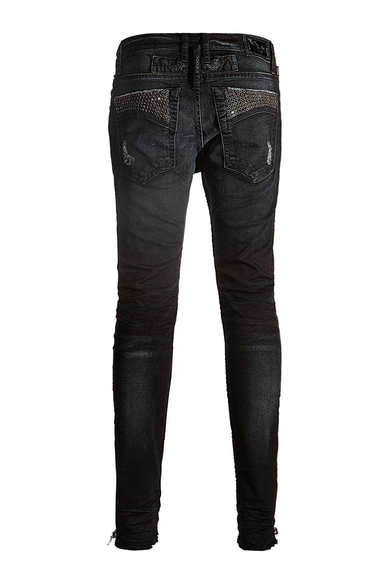 SKINNY JEANS WITH BLACK SW IN F-UP BLACK