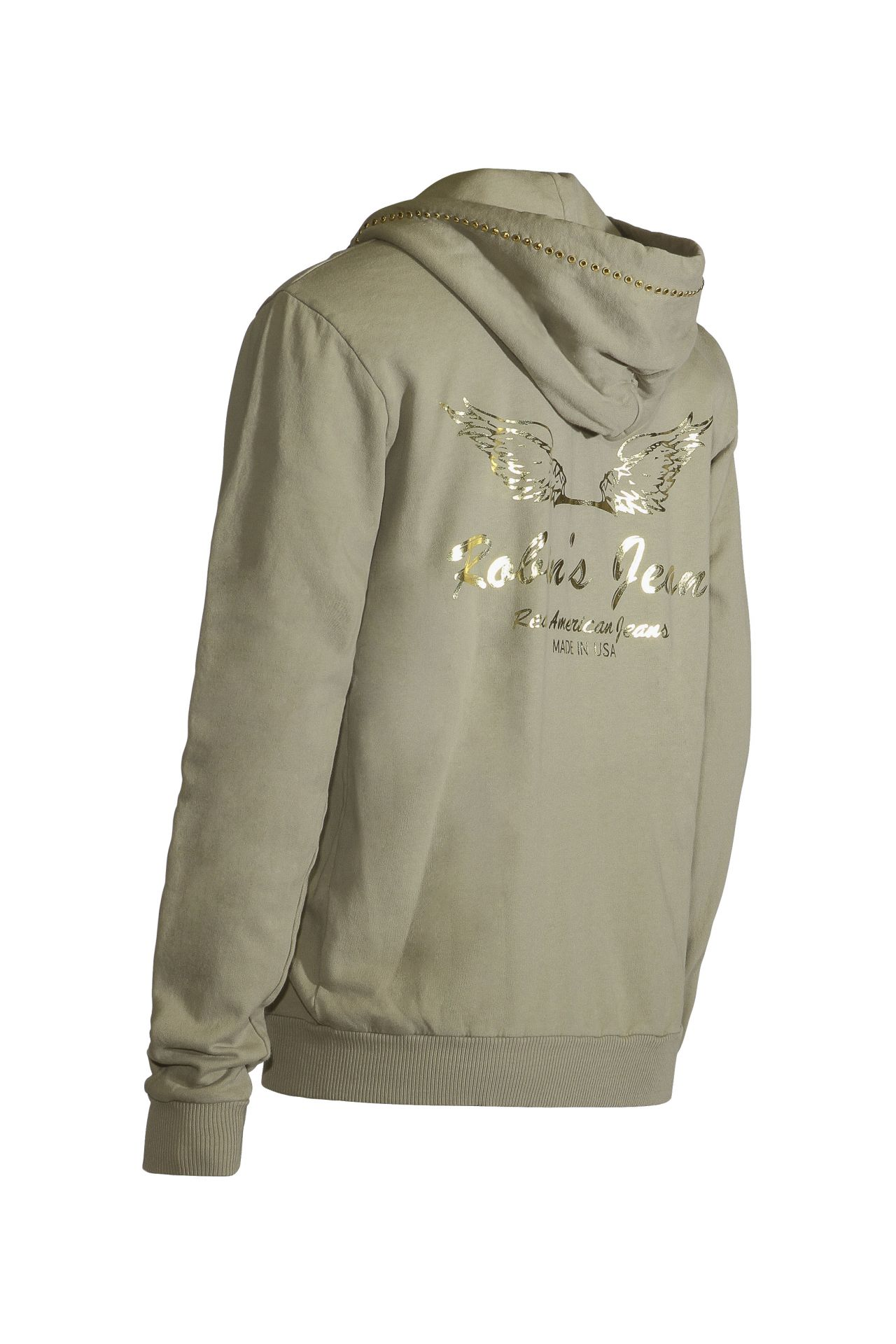 KHAKI HOOD WITH WINGS AND SW