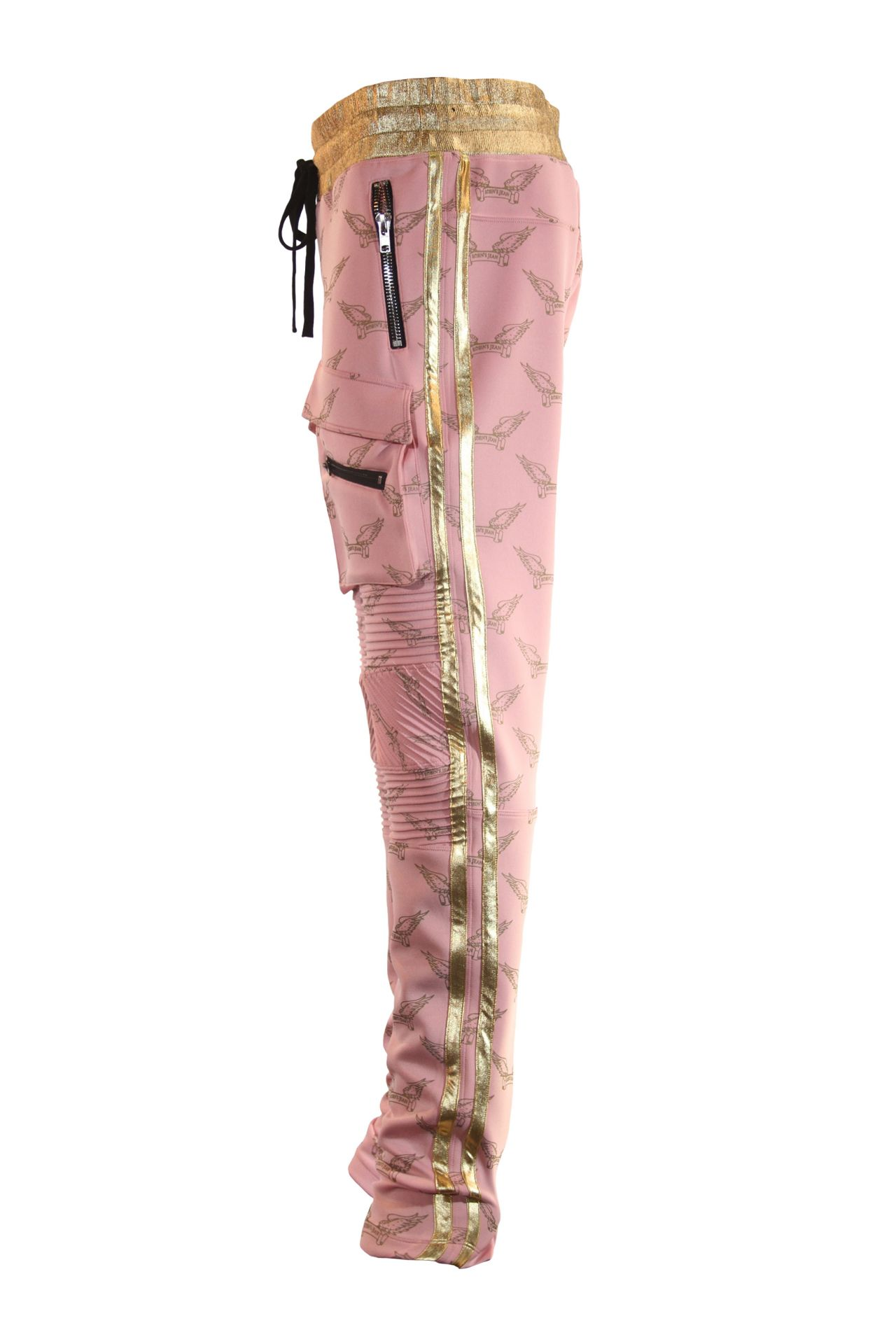 ROBIN'S MONOGRAM JOGGER IN PINK AND GOLD