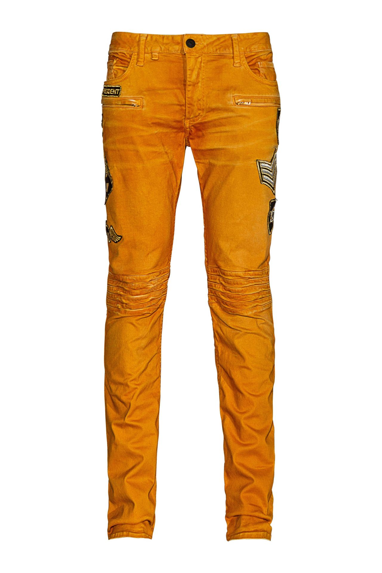 MOTO IN ORANGE WITH PATCHES