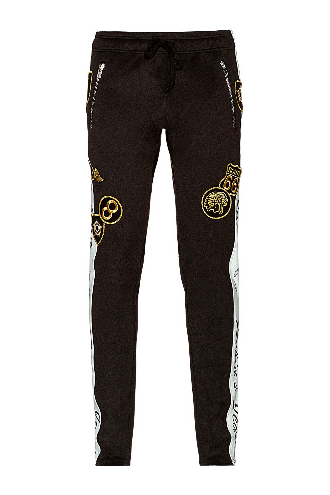 ROBIN TEAM JOGGER WITH PATCHES IN BLACK