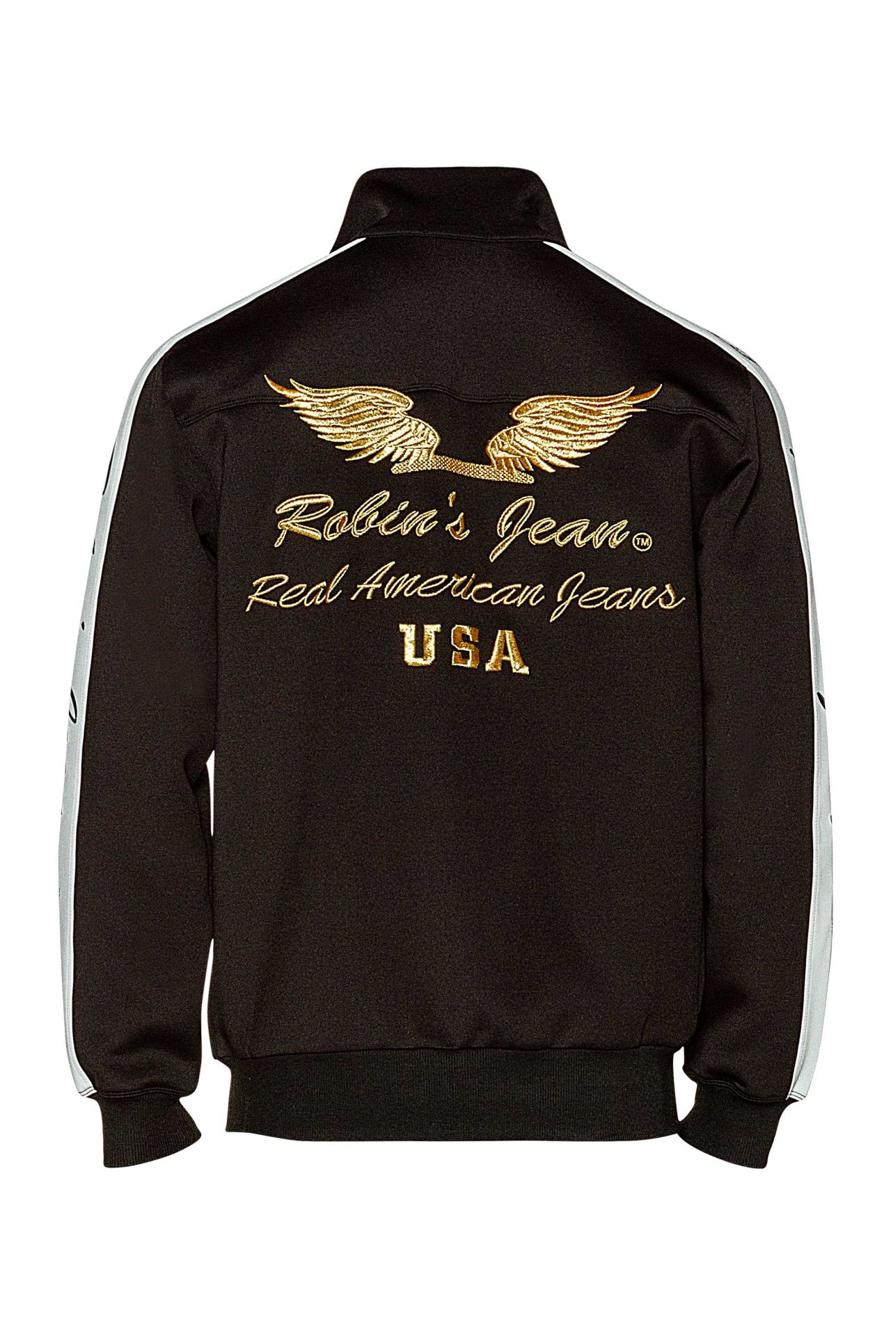 ROBIN TEAM TRACK JACKET W PATCHES IN BLACK