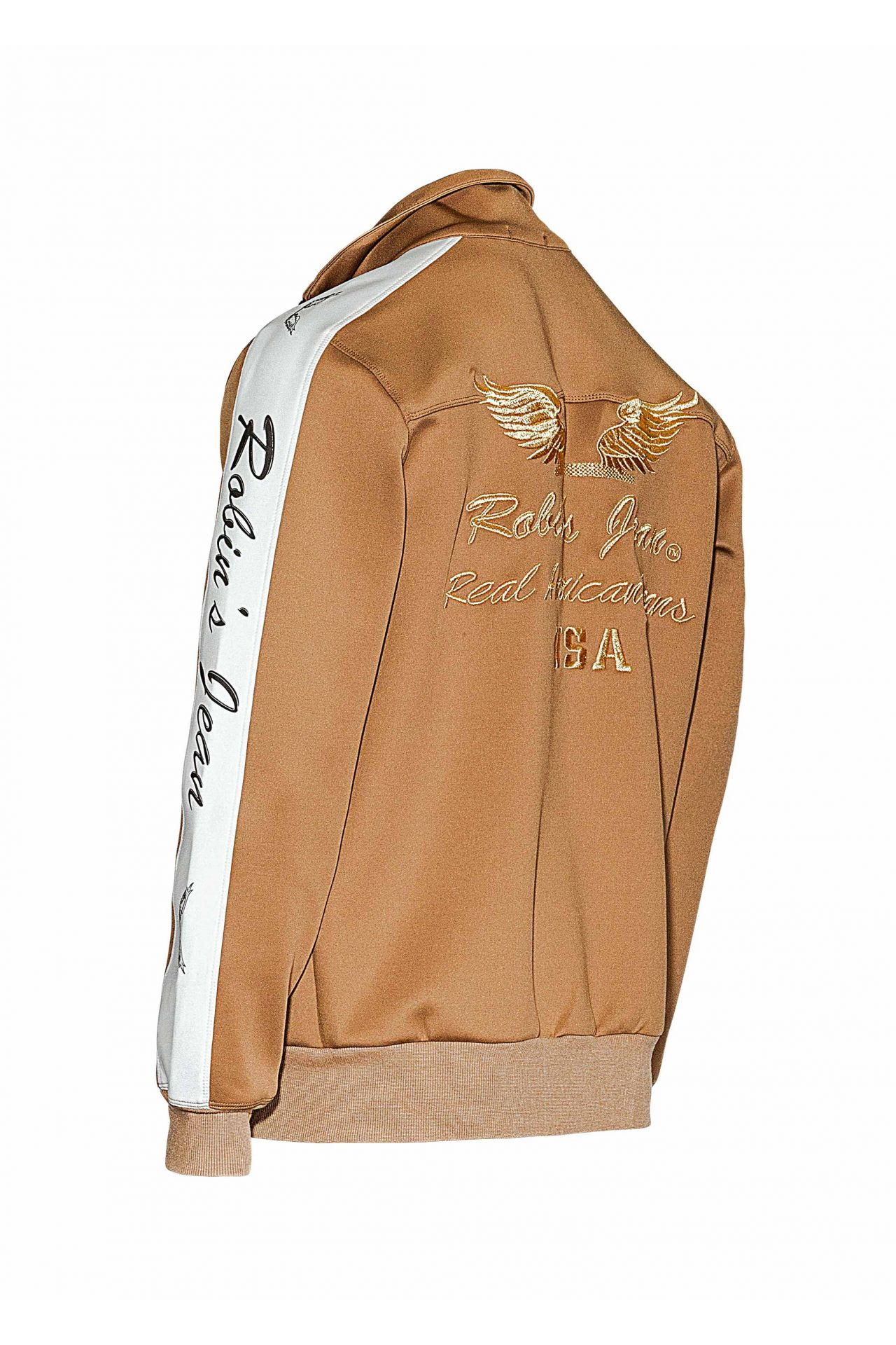 ROBIN TEAM TRACK JACKET W PATCHES IN KHAKI