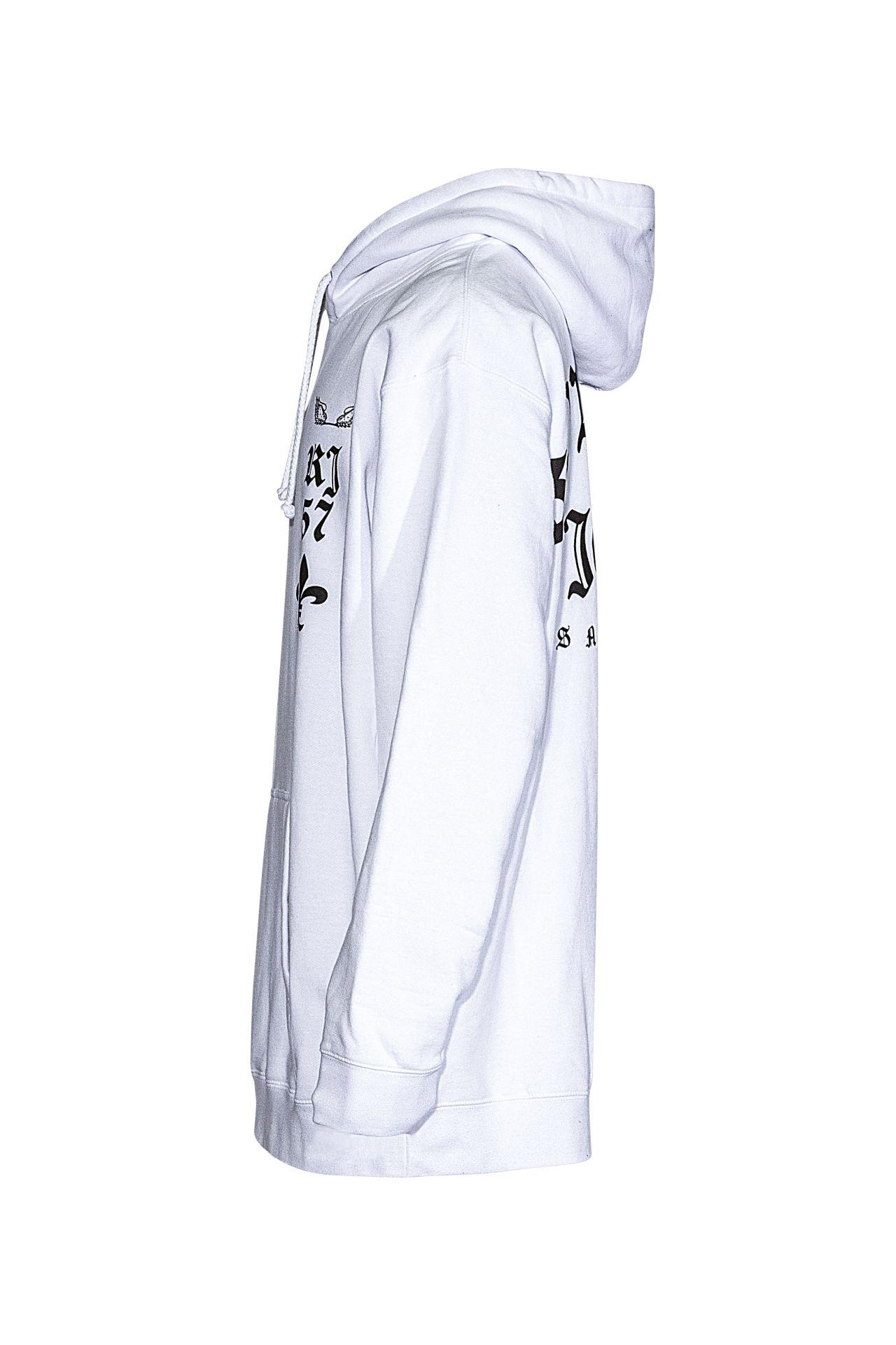 FLEUR-DE-LIS HOODIE IN WHITE