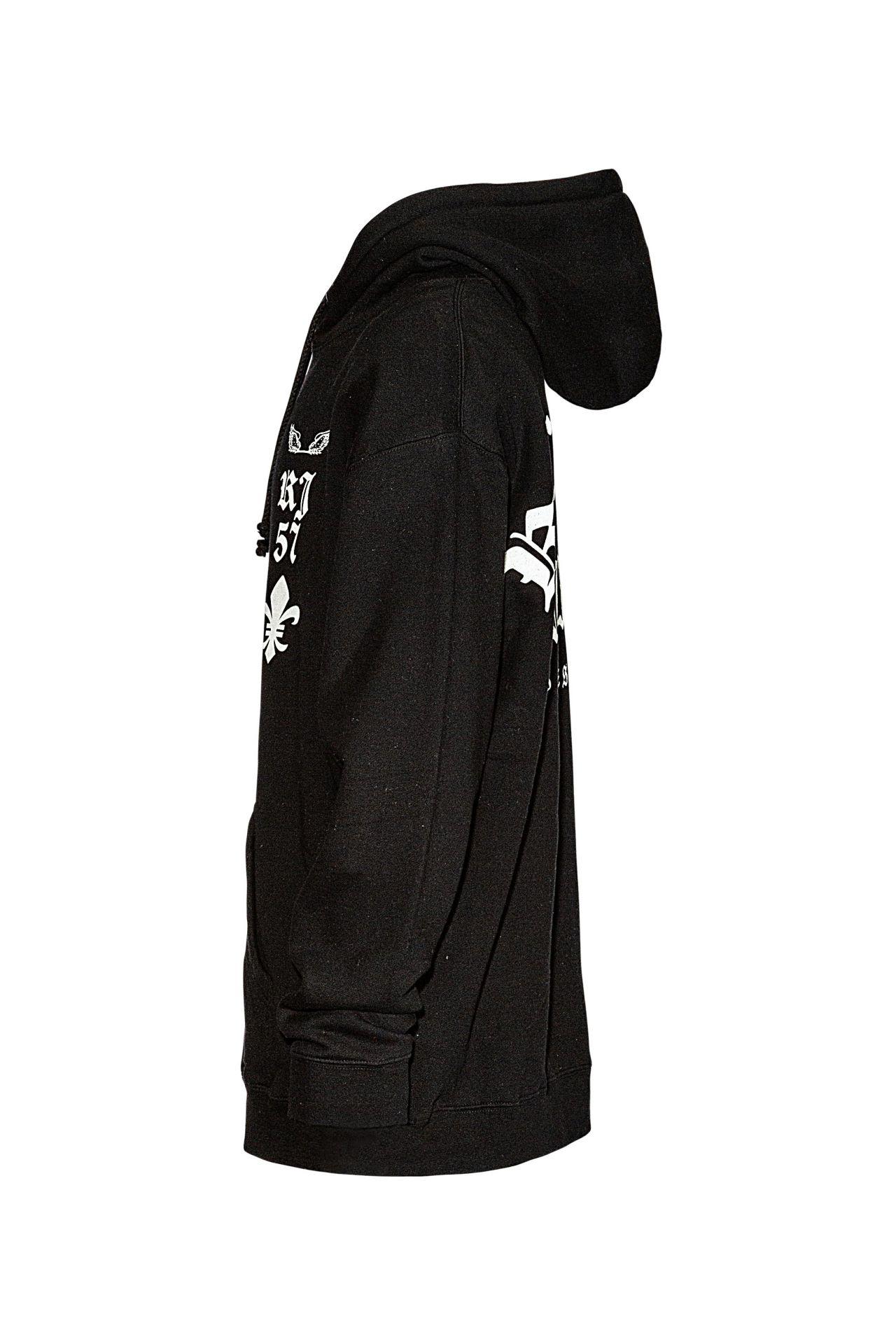 FLEUR-DE-LIS HOODIE IN BLACK