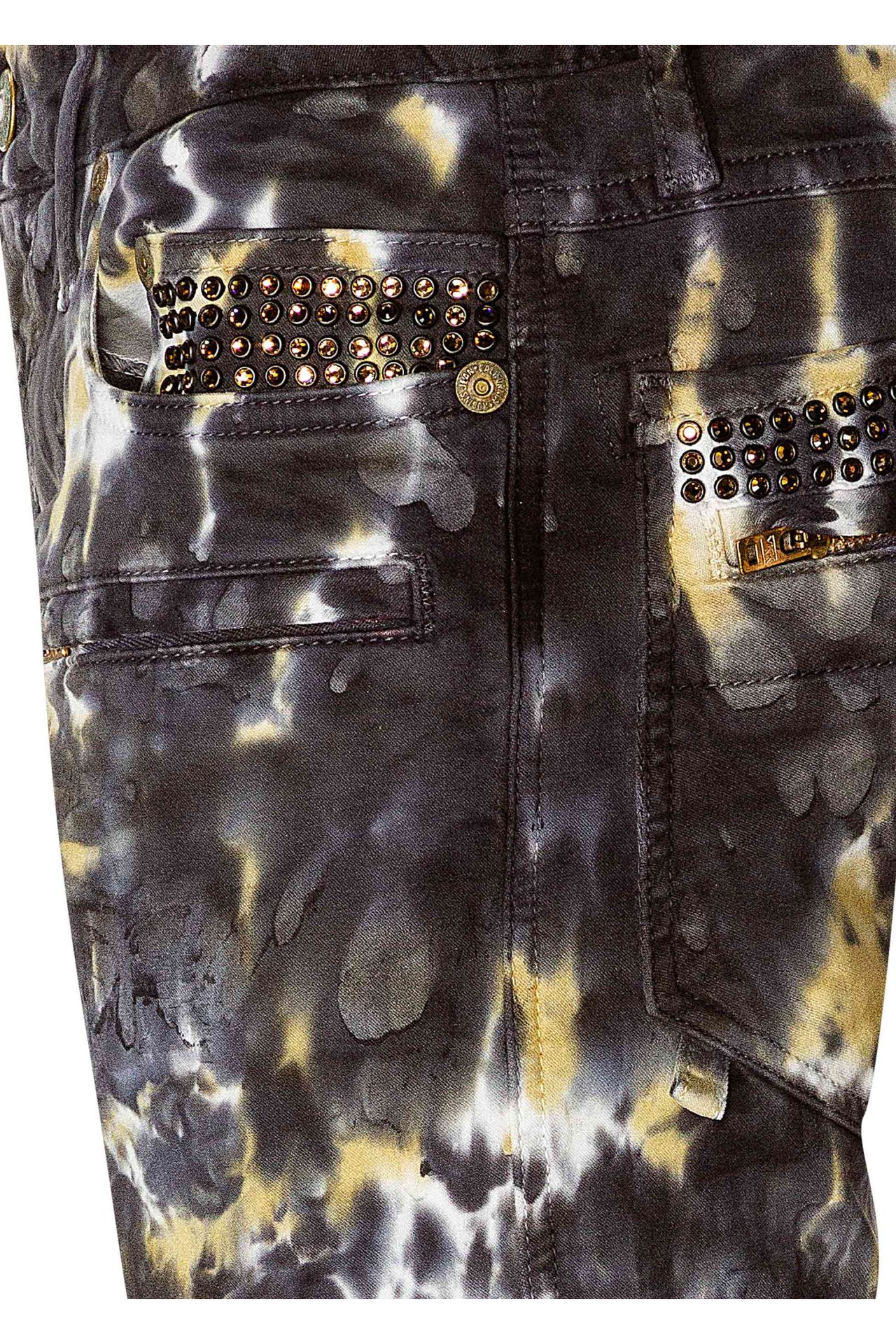 TIE DYE MOTO WITH CRYSTALS