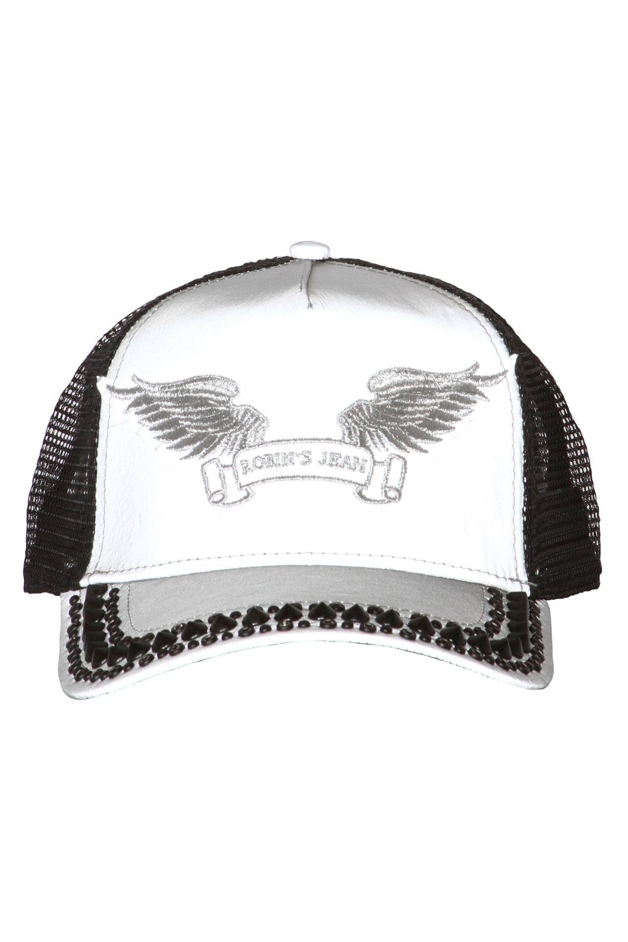 TRUCKER CAP IN REFLECTIVE GREY WITH CRYSTALS