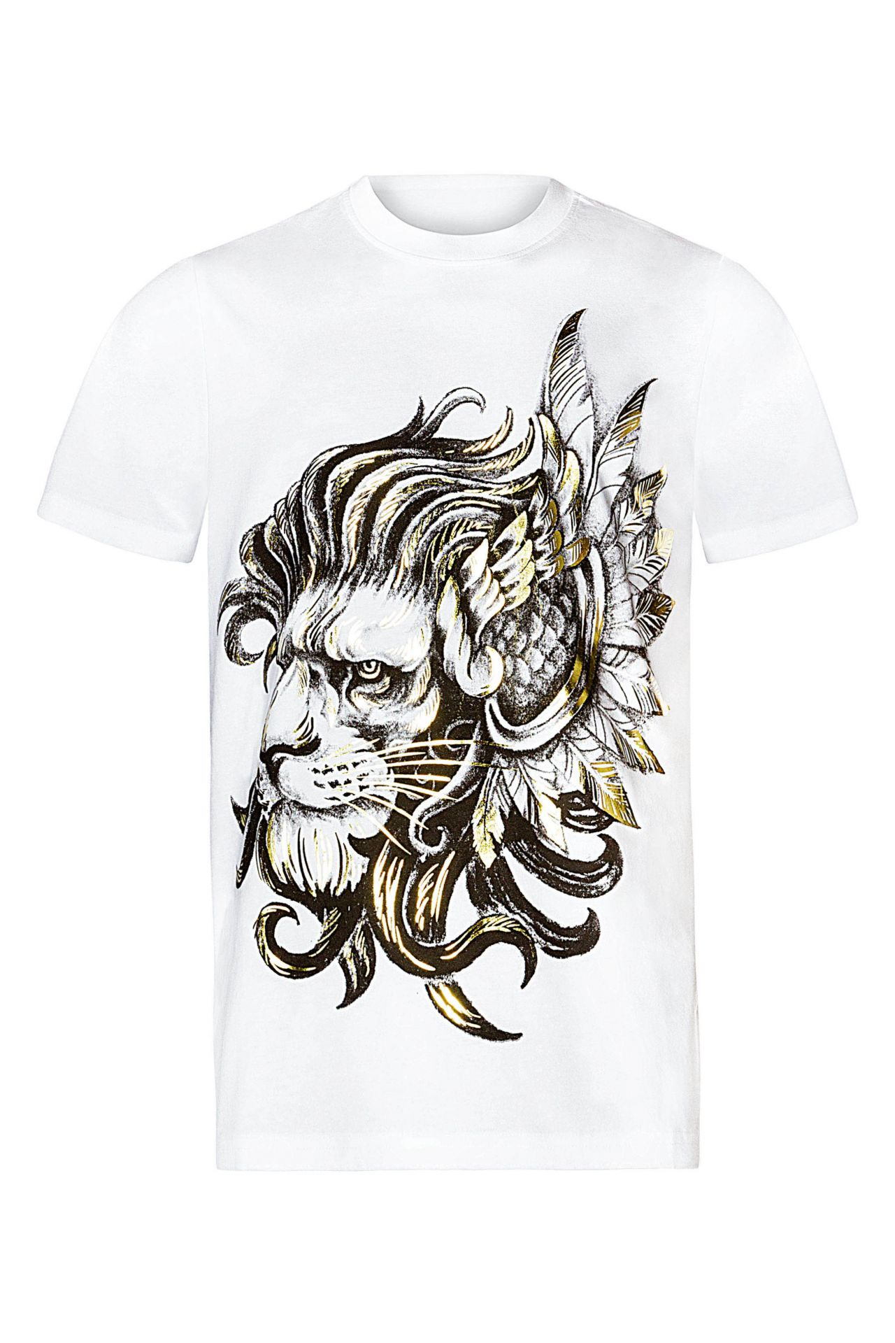 ROBIN'S RED LABEL LION TEE IN WHITE