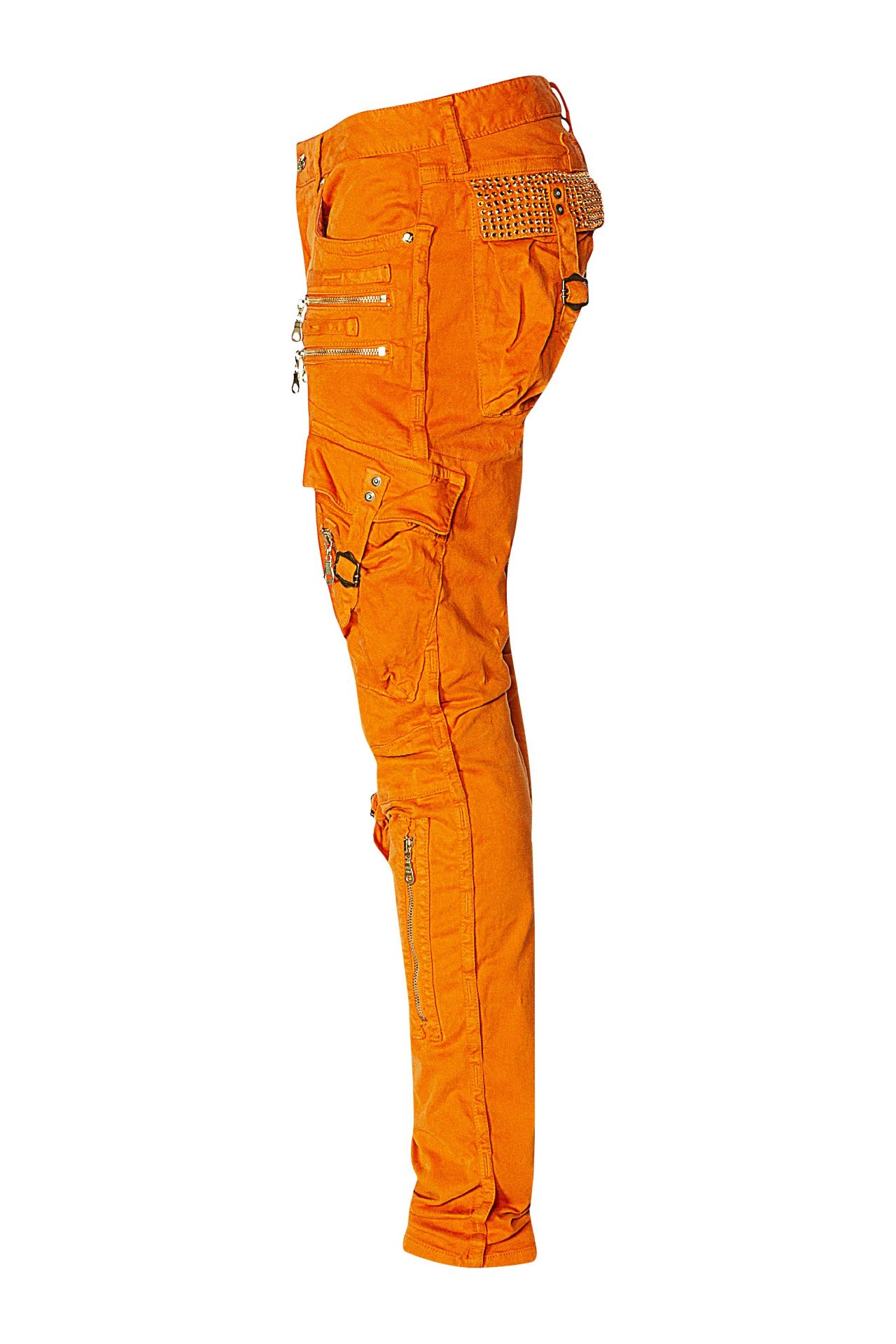 MILITARY CARGO IN SODA ORANGE WITH CRYSTALS