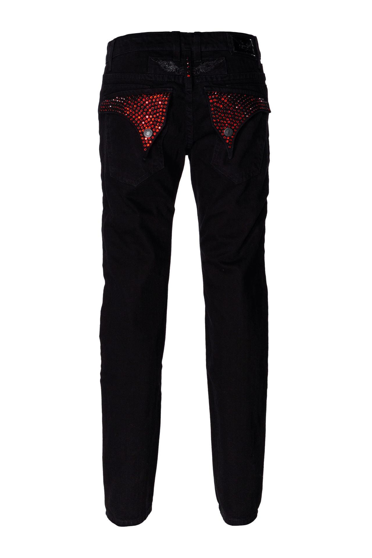 FLAP POCKET IN BLACK WITH RED SW