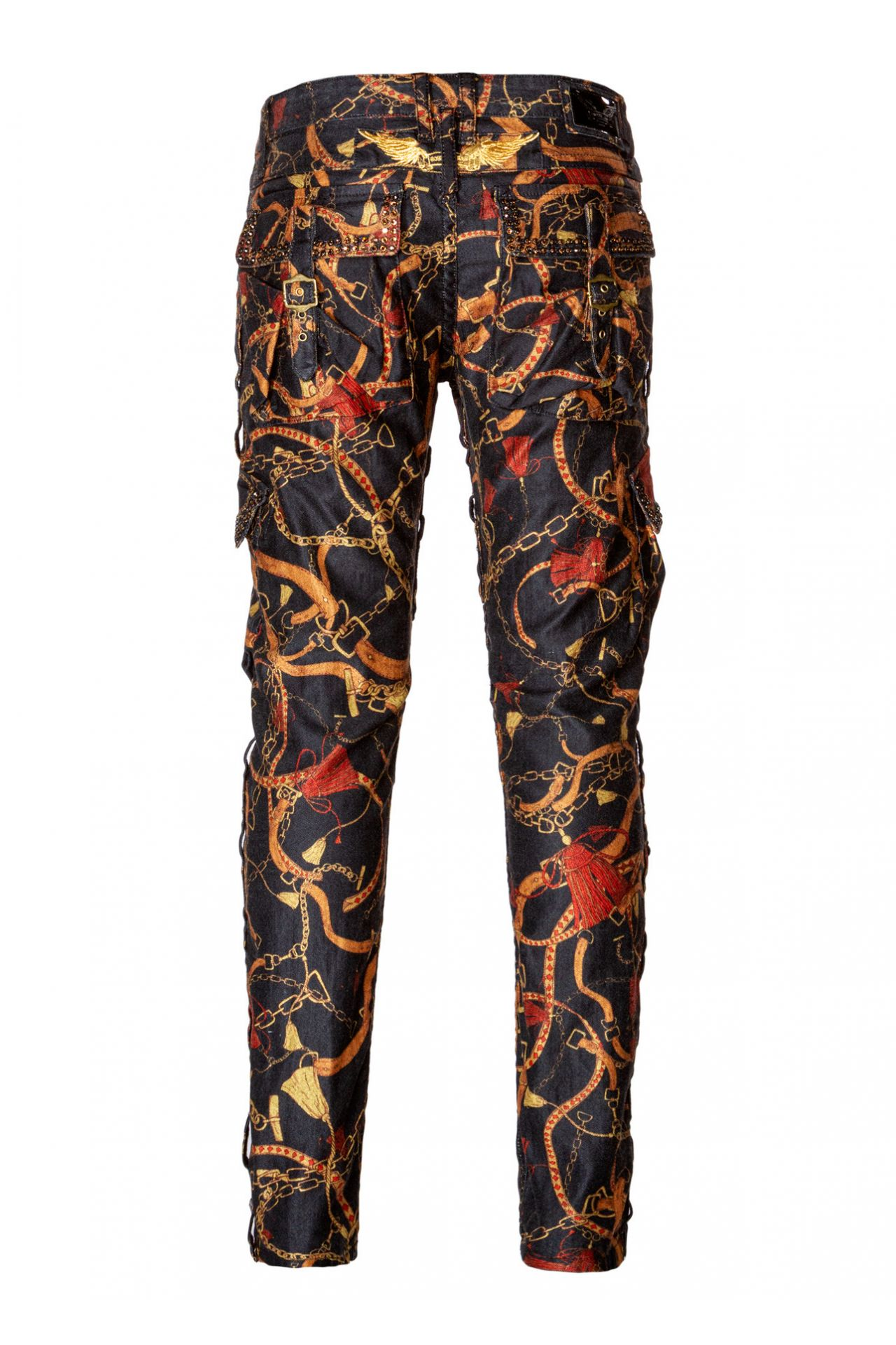 LIMITED EDITION EQUESTRIAN CARGO PANTS WITH CRYSTALS