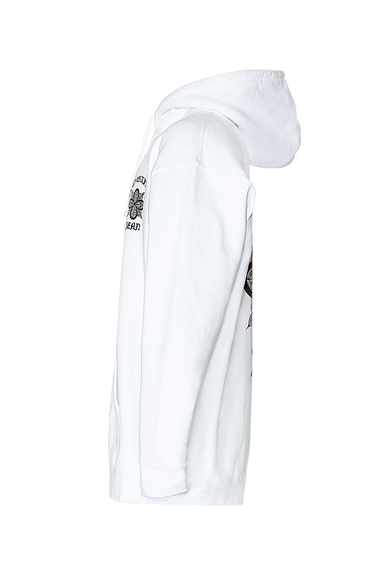 ORNATE HOODIE WITH CRYSTALS IN WHITE