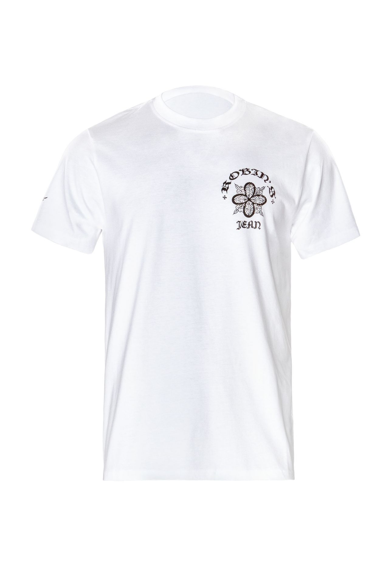 ORNATE TEE WITH CRYSTALS IN WHITE
