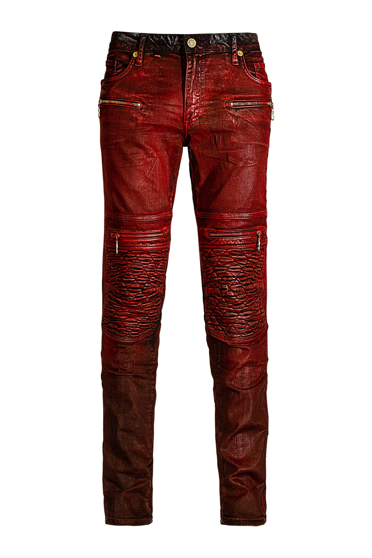 BIKER IN WAXED DIGGER RED