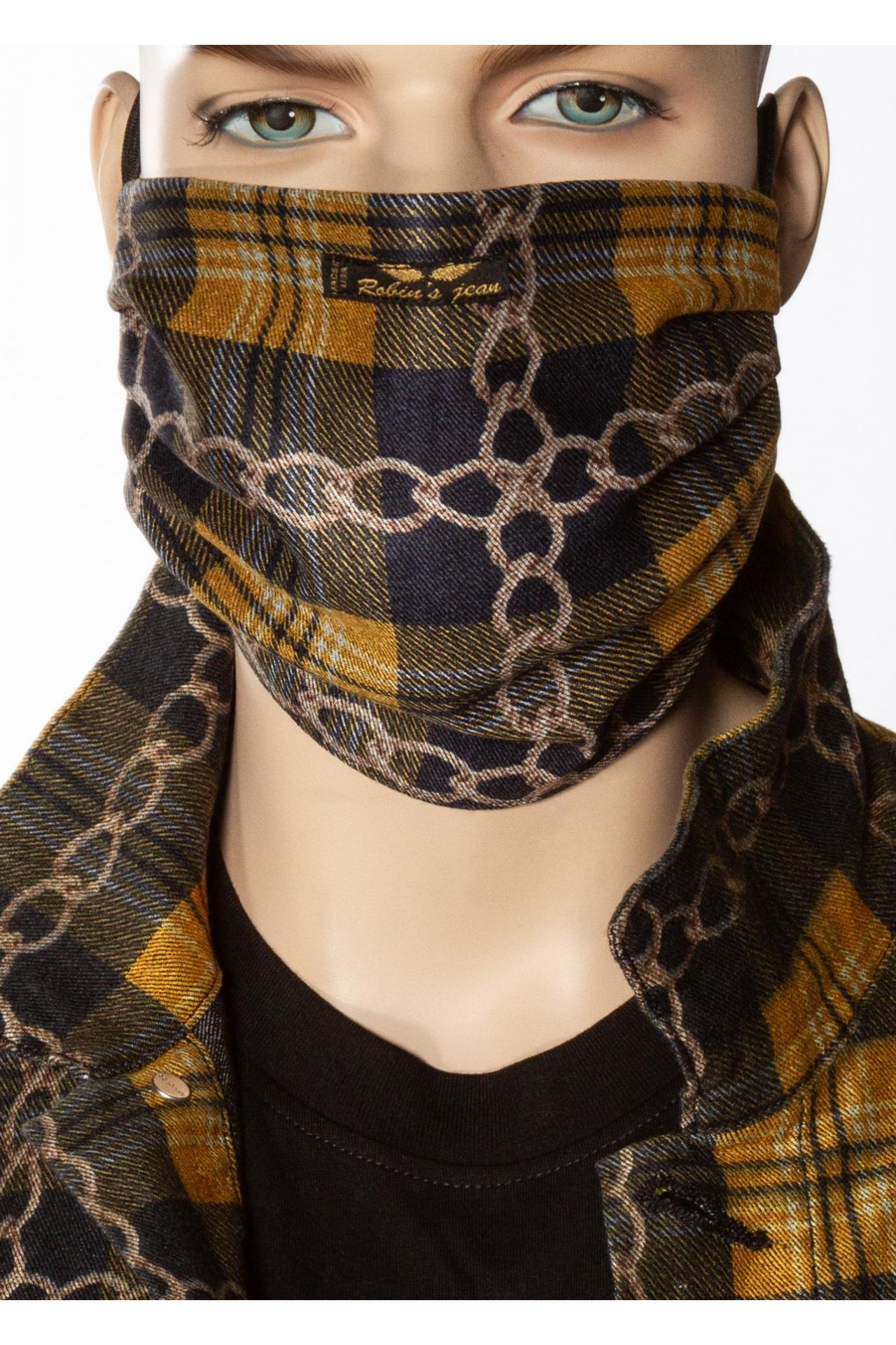ELEMENTS MASK IN YELLOW PLAID