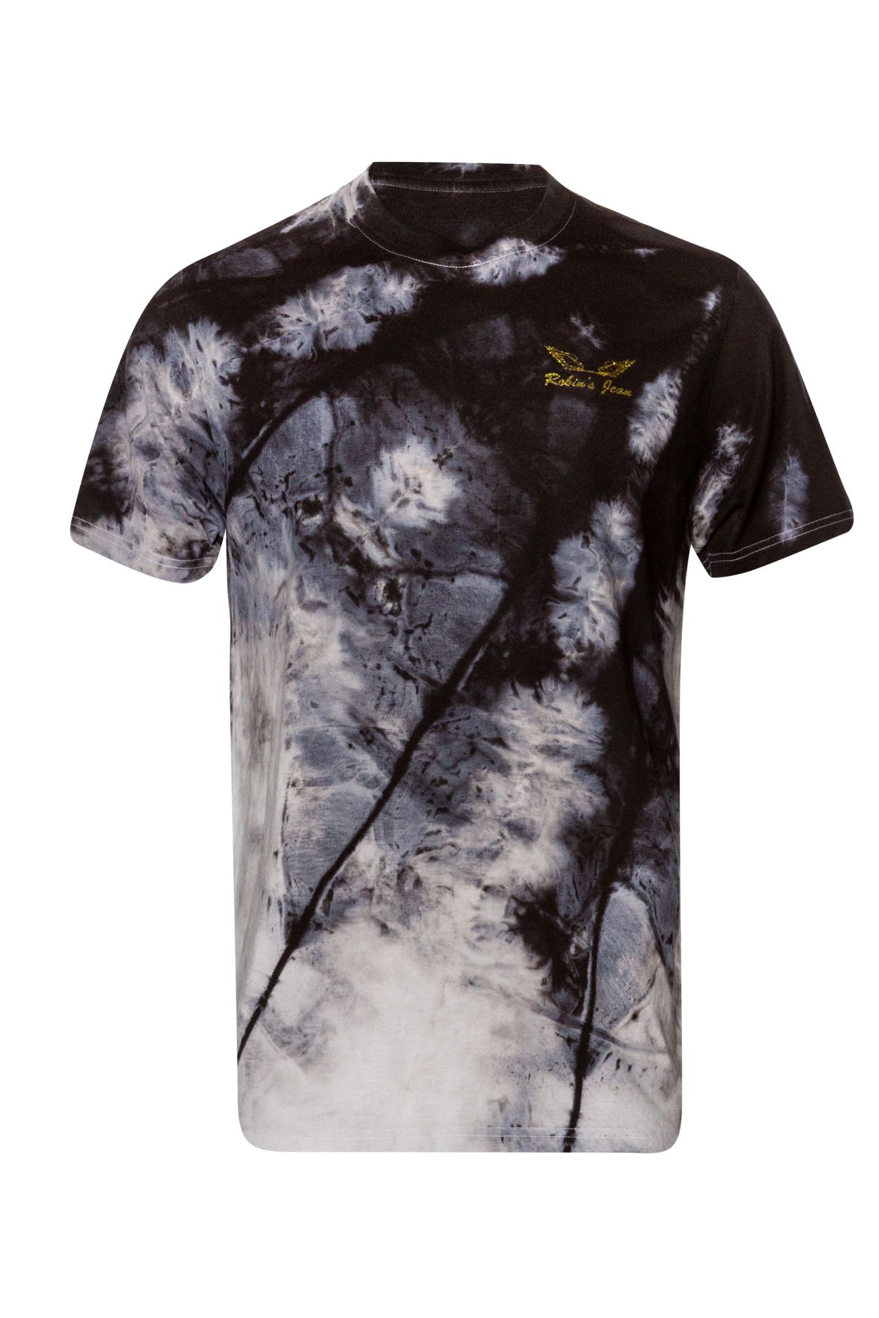 ROBINS GOLD GLITTER WINGS IN TIE DYE BLACK